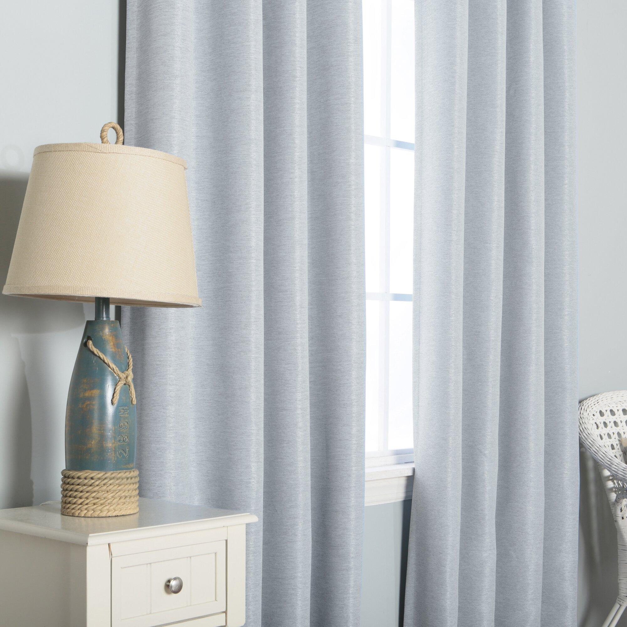 Best Home Fashion Inc Shimmery Basketweave Grommet Top Blackout Curtain Panels Reviews Wayfair