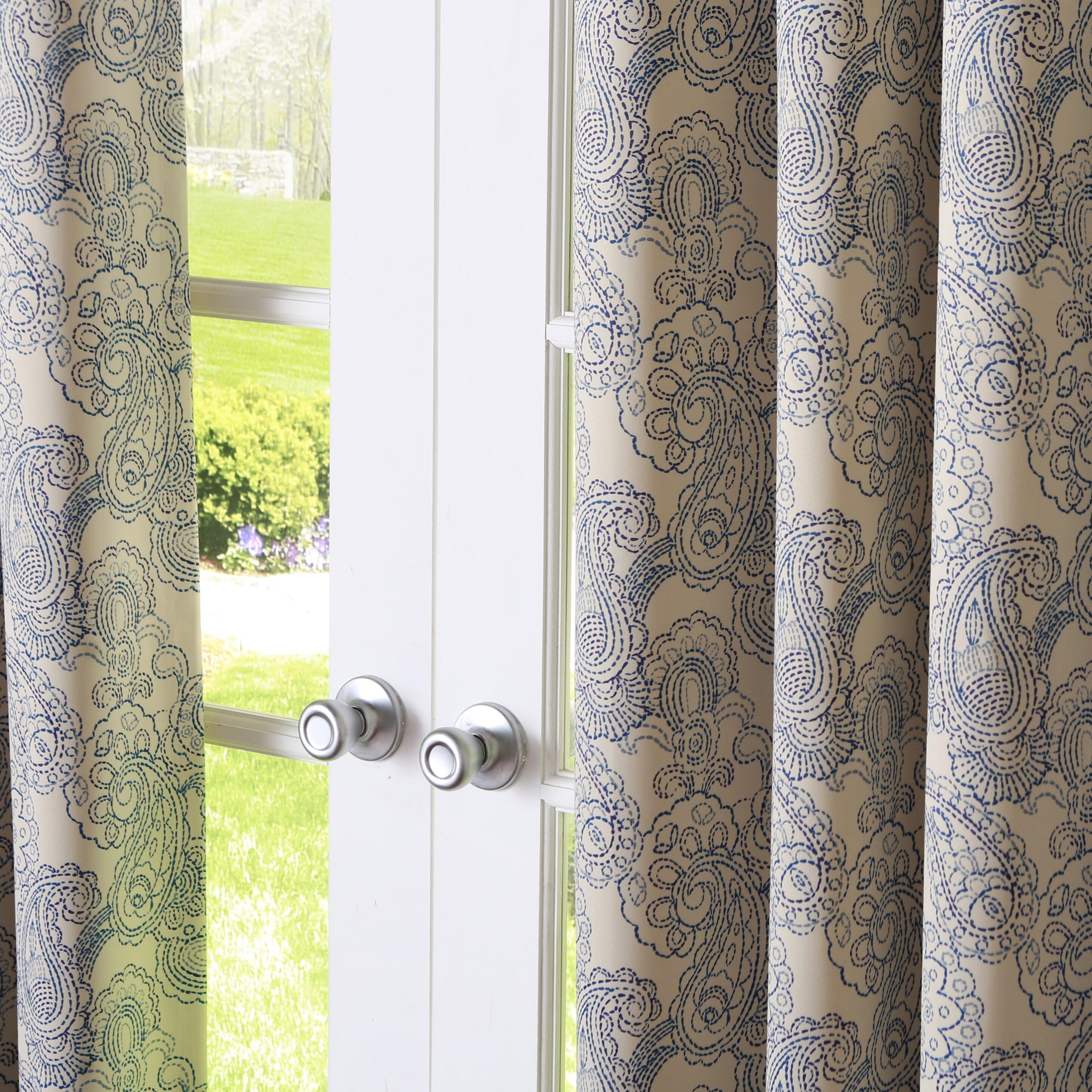Best Home Fashion Inc Paisley Stitch Grommet Curtain