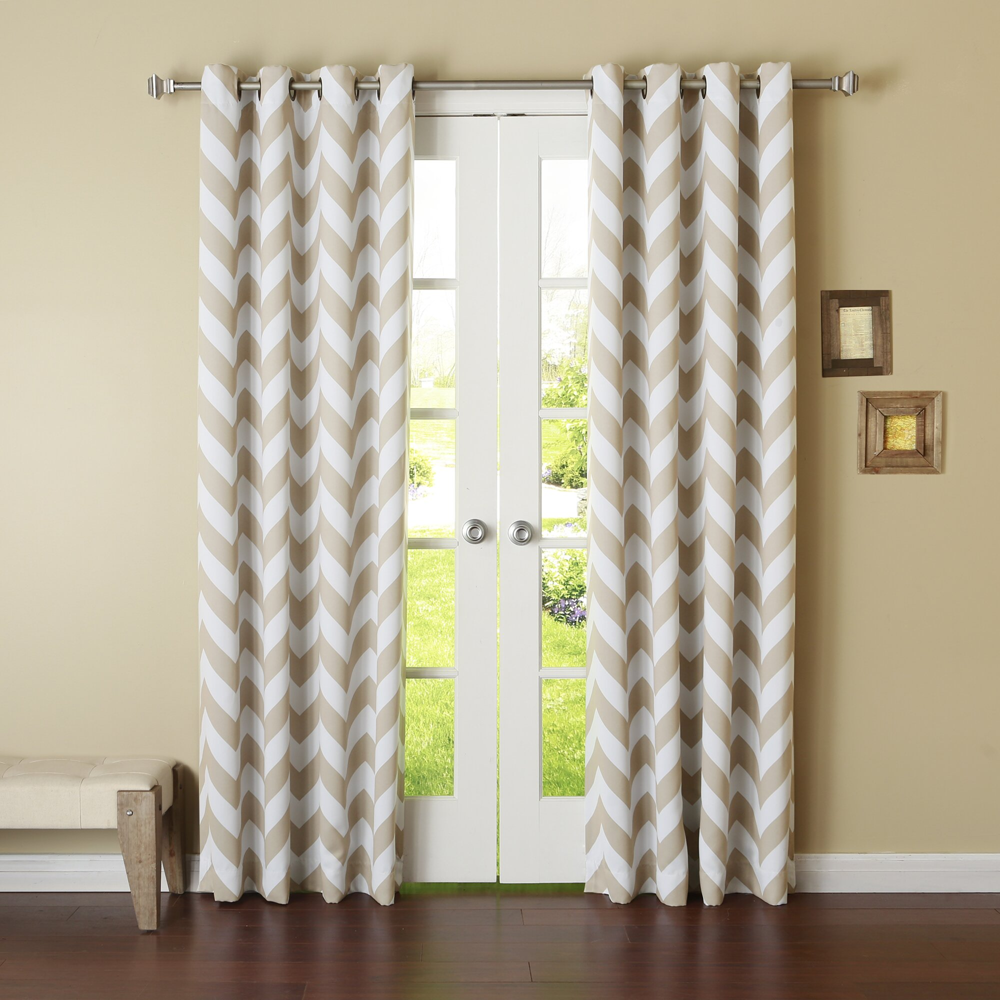 Best Home Fashion Inc Chevron Print Room Darkening