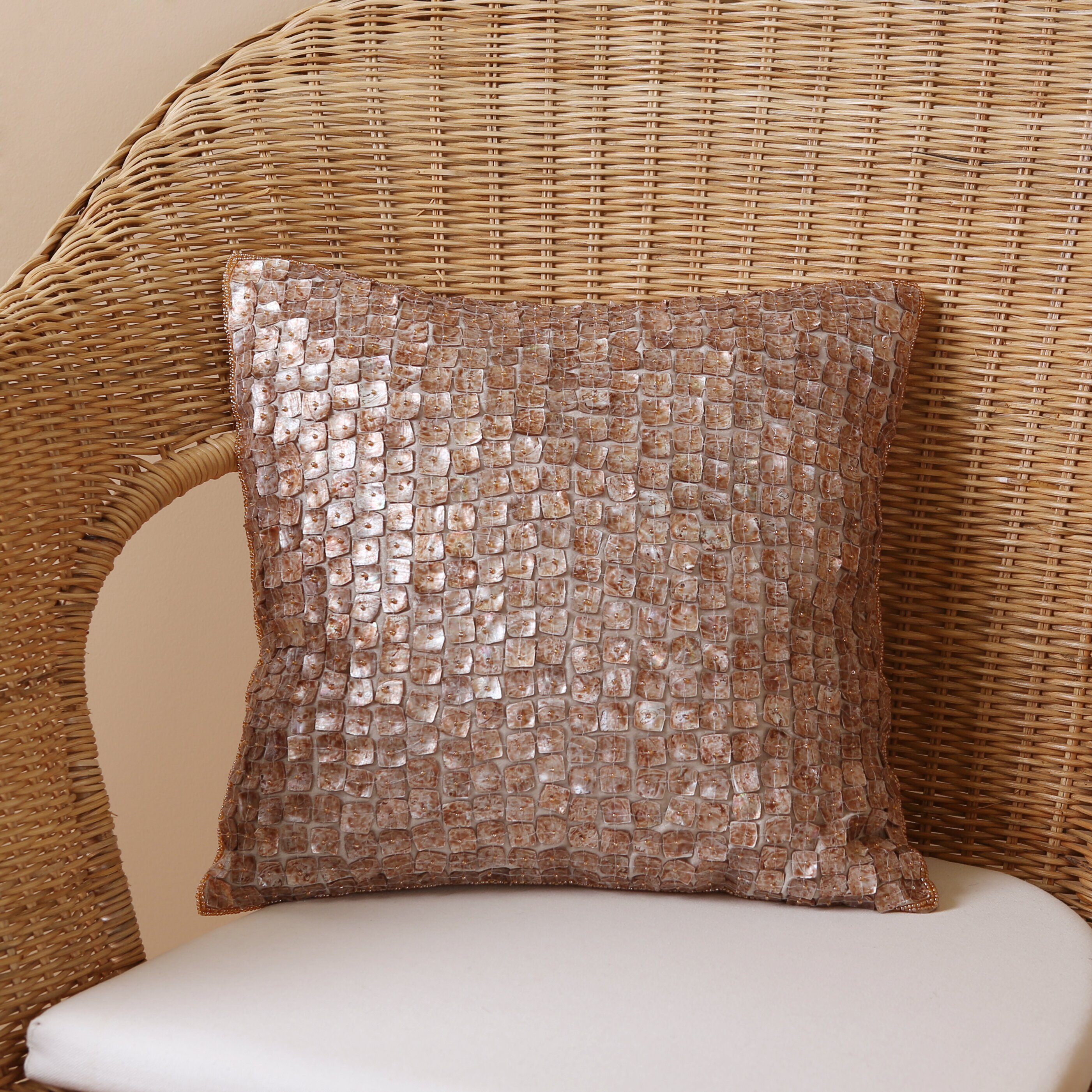 Decorative Pillow With Pearls : Best Home Fashion, Inc. Mother of Pearl Pillow Cover & Reviews Wayfair