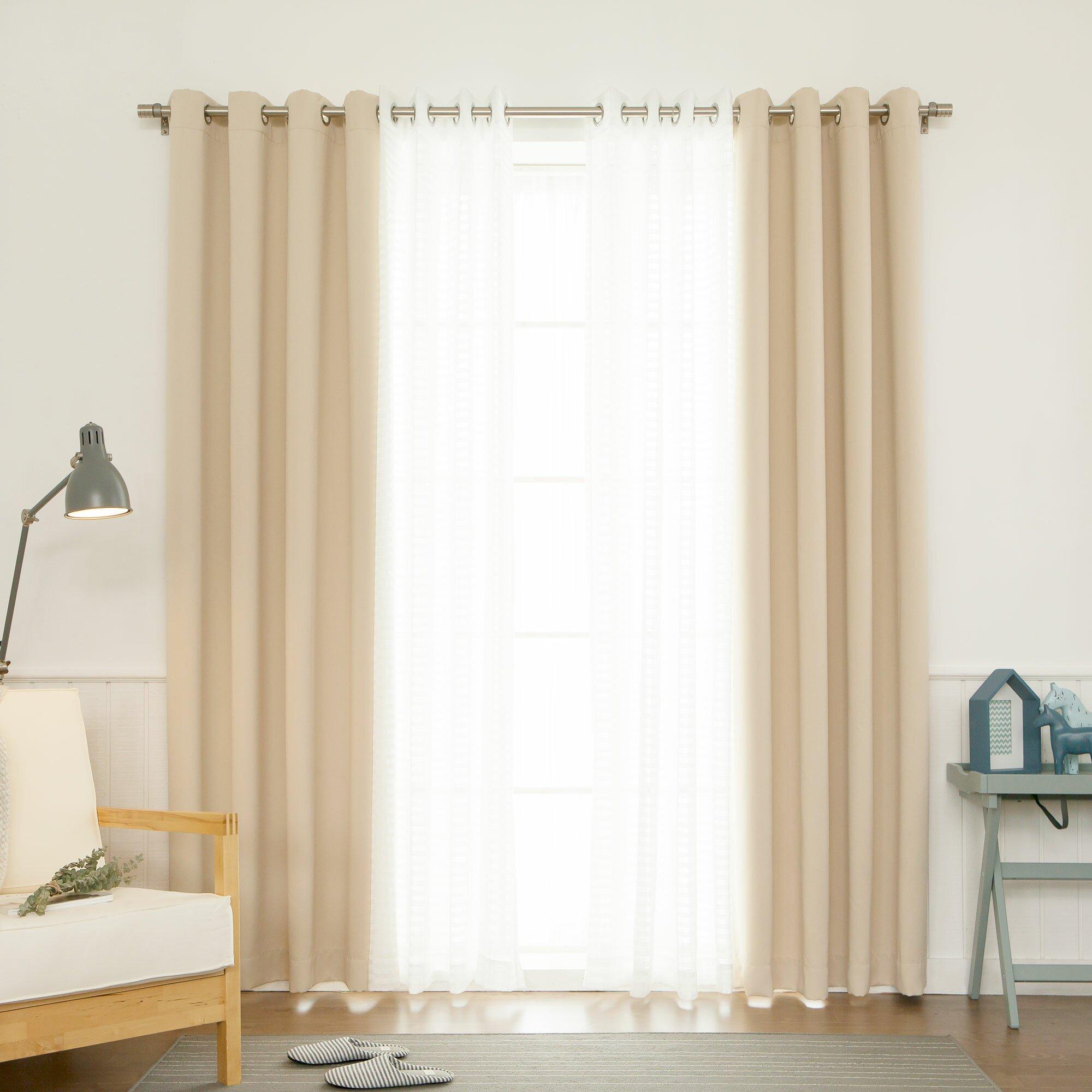 Best Home Fashion Inc Mix Match Curtain Set Reviews