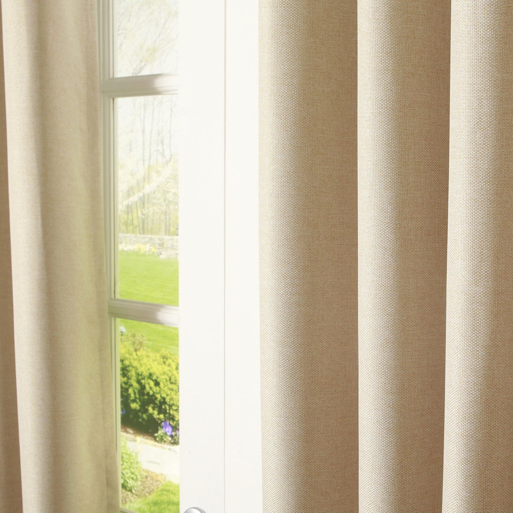 Best Home Fashion Inc Basketweave Room Darkening Blackout Curtain Panels Reviews Wayfair