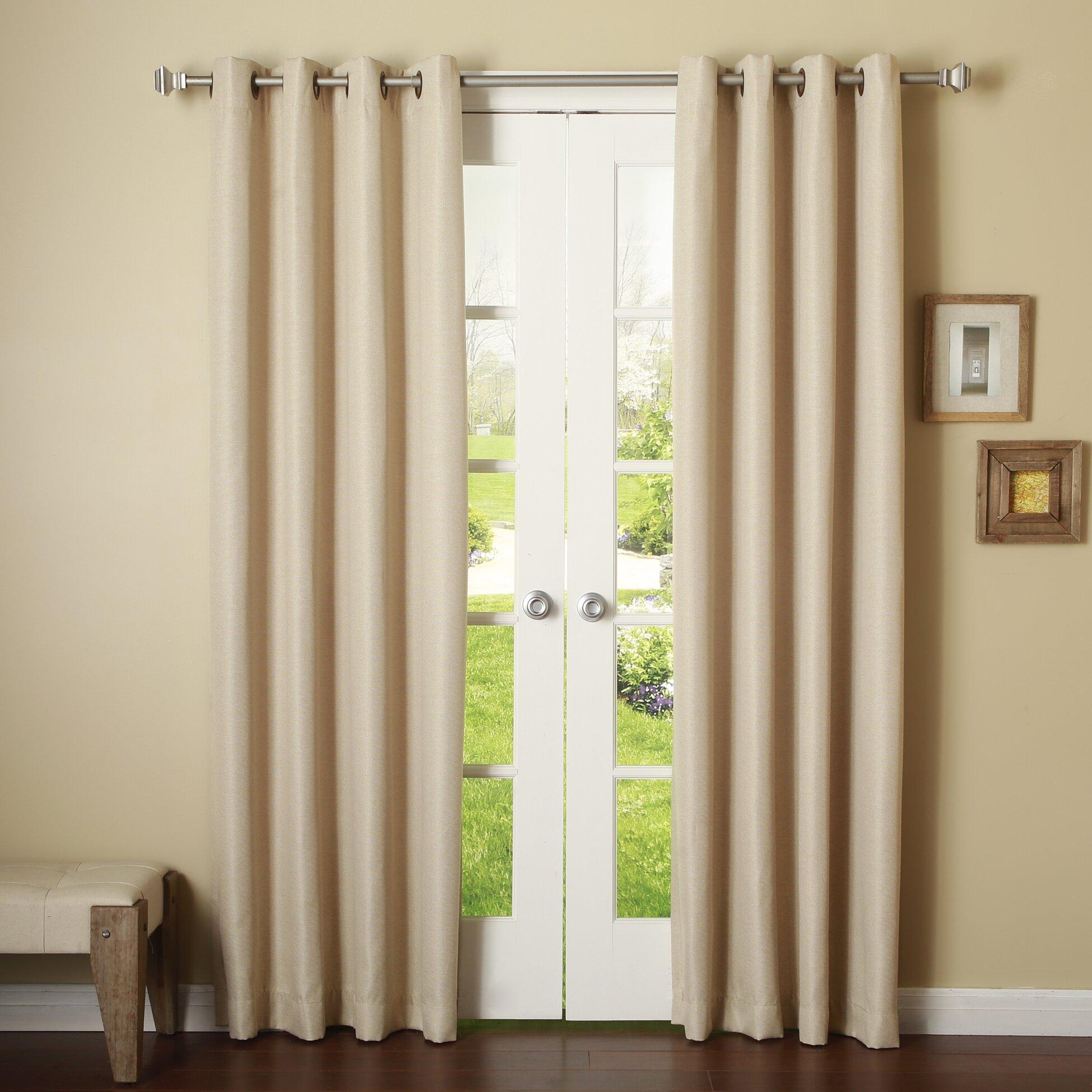 Best Home Fashion Inc Basketweave Room Darkening Curtain