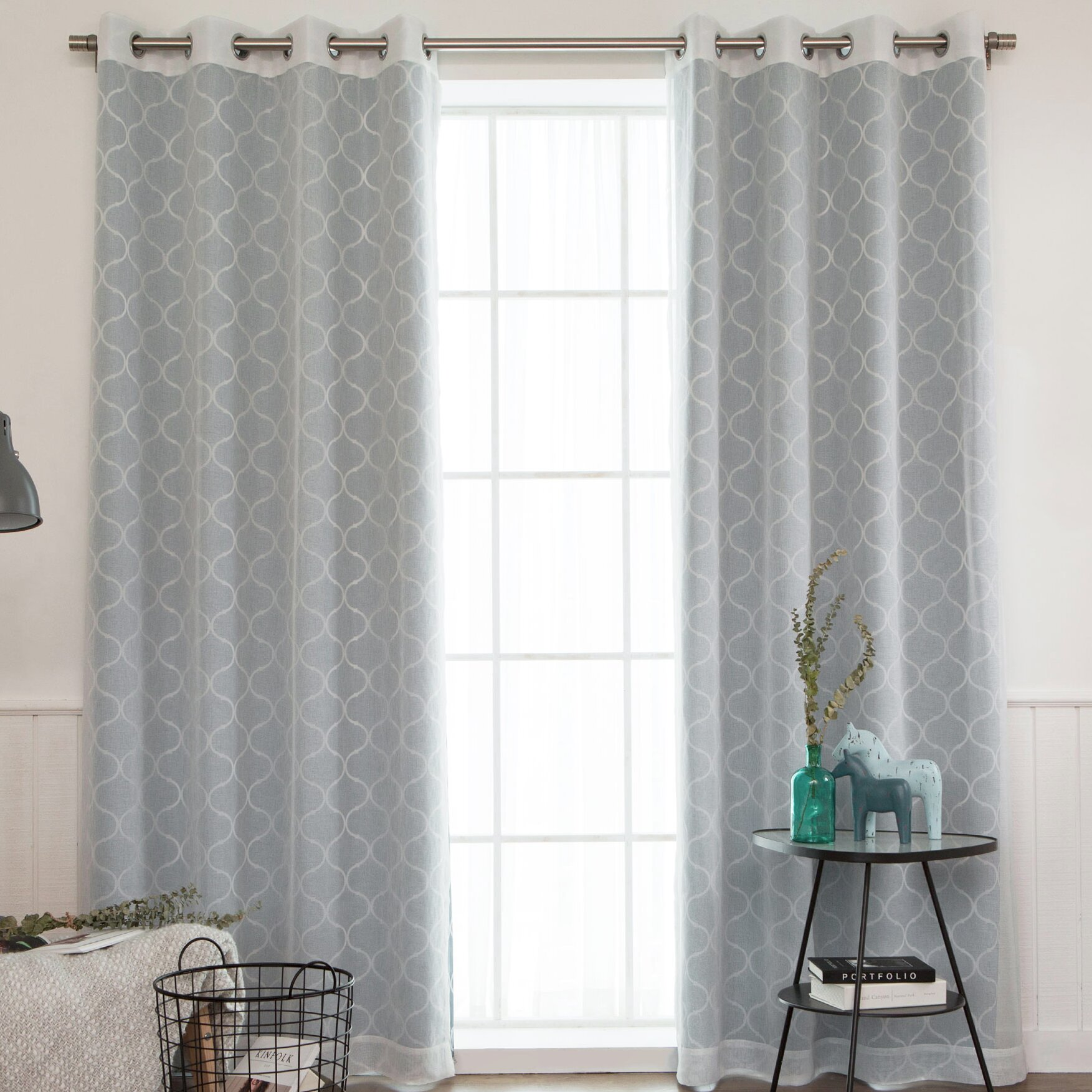 Best home fashion inc mix match curtain panel wayfair for Mix and match curtains colors