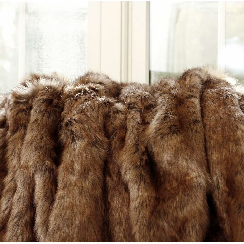 Best Home Fashion Inc Coyote Faux Fur Throw Amp Reviews