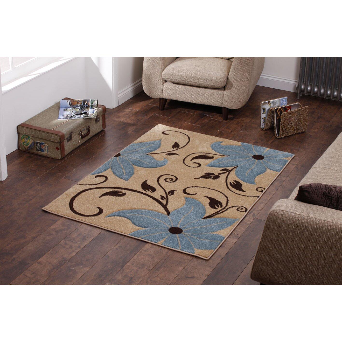 wayfair basics beige blue area rug reviews wayfair uk. Black Bedroom Furniture Sets. Home Design Ideas