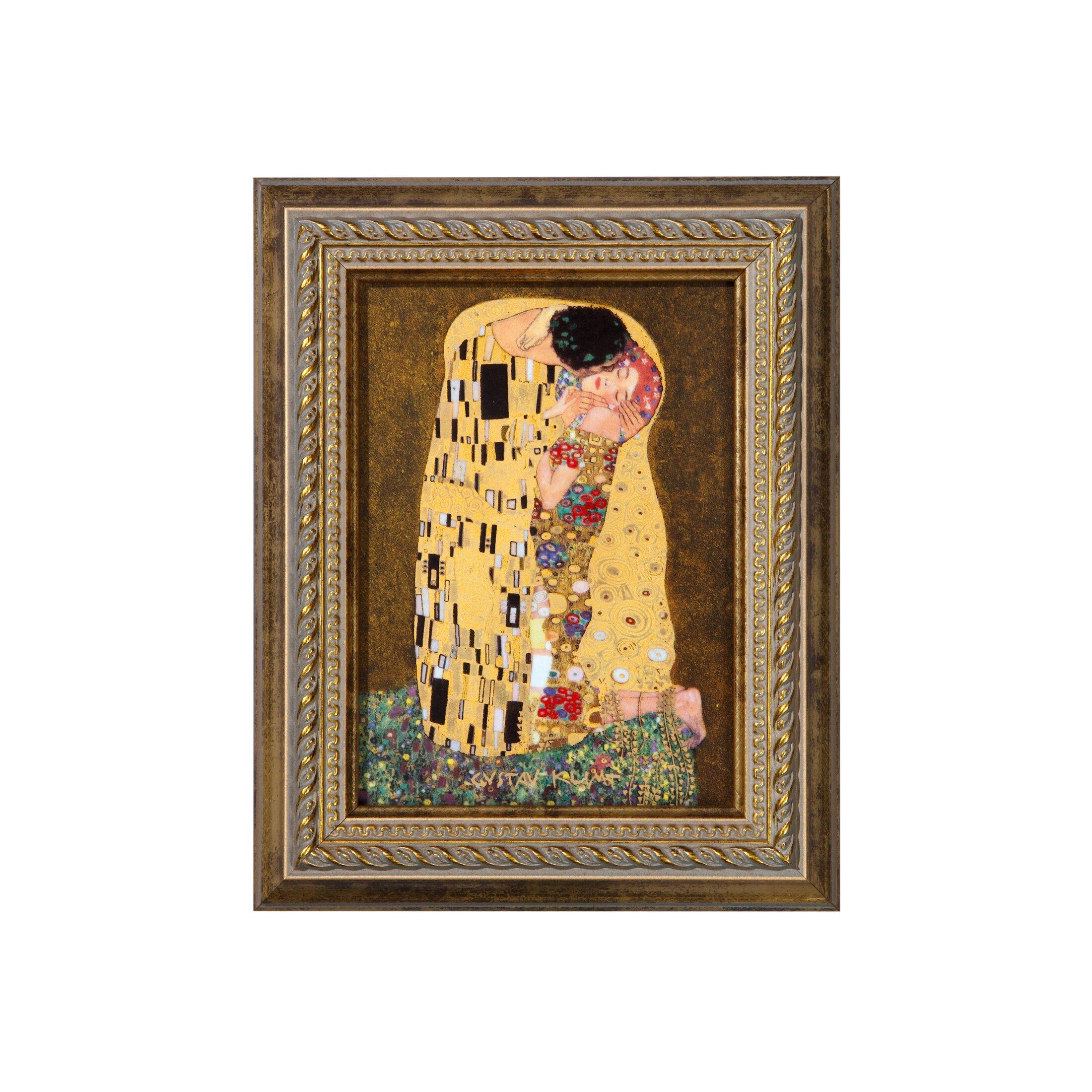 goebel porzellanbild der kuss von gustav klimt 19 5 x 16 cm. Black Bedroom Furniture Sets. Home Design Ideas