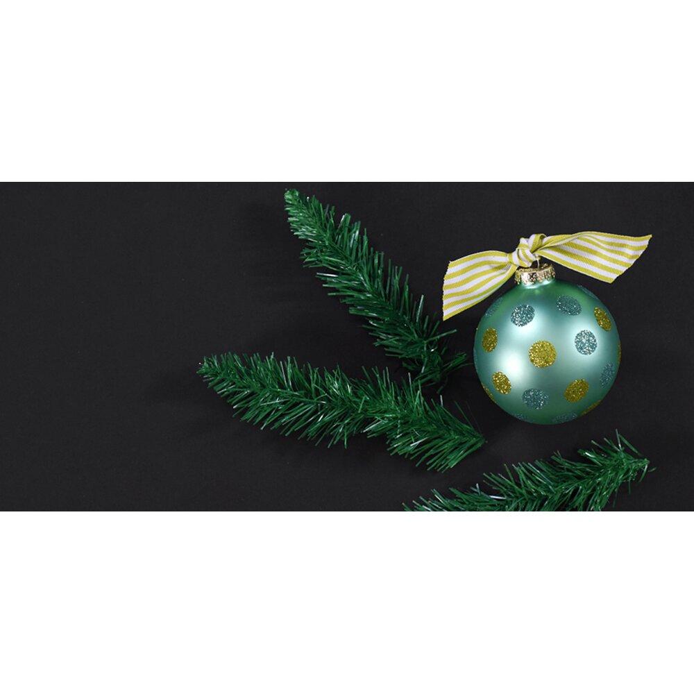 coton colors ho ho dot glass ornament wayfair
