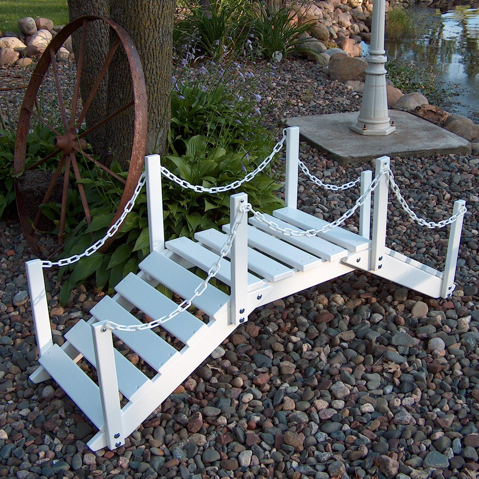Prairie Leisure Design Decorative Garden Bridge With Posts