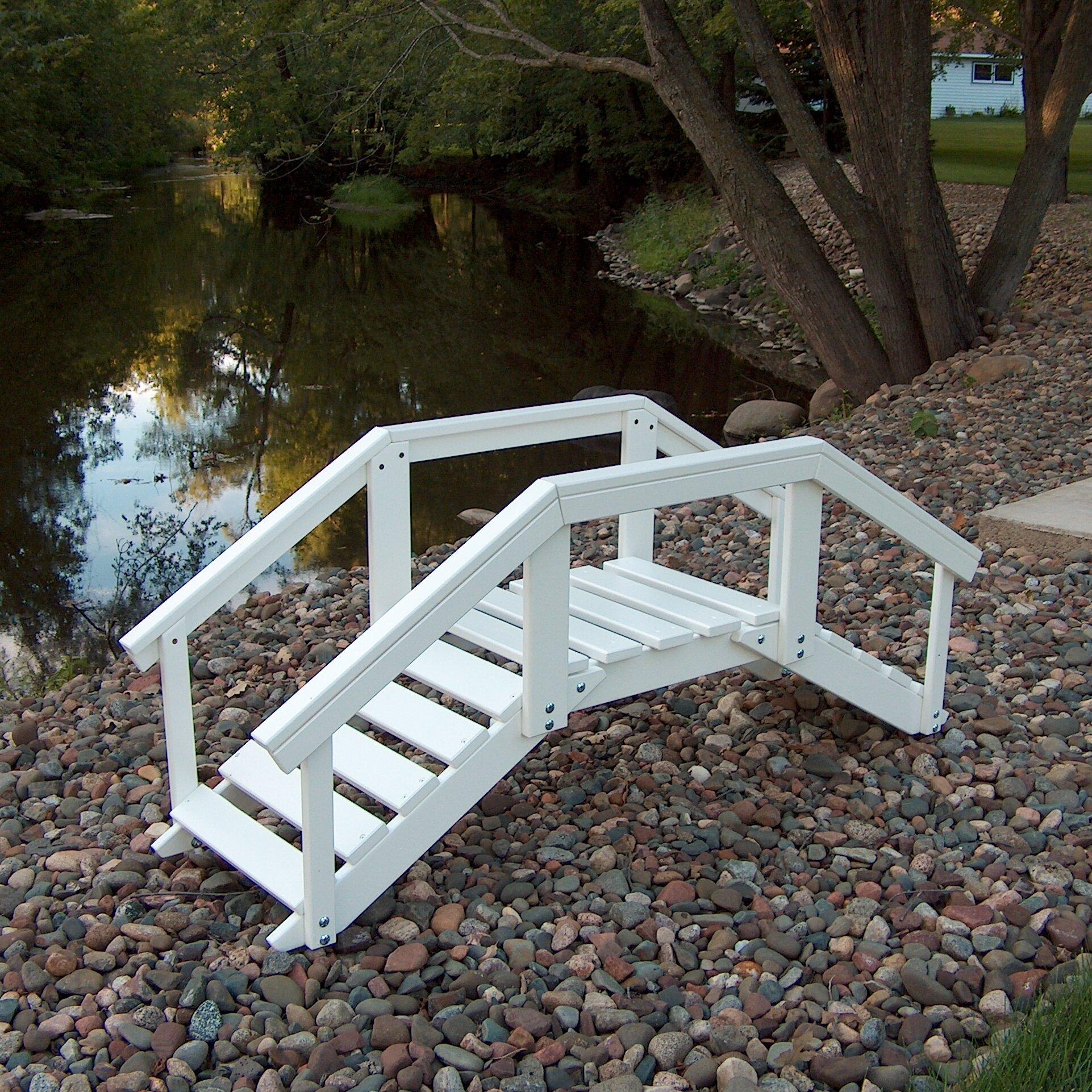 Prairie Leisure Design Decorative Garden Bridge with Posts ...