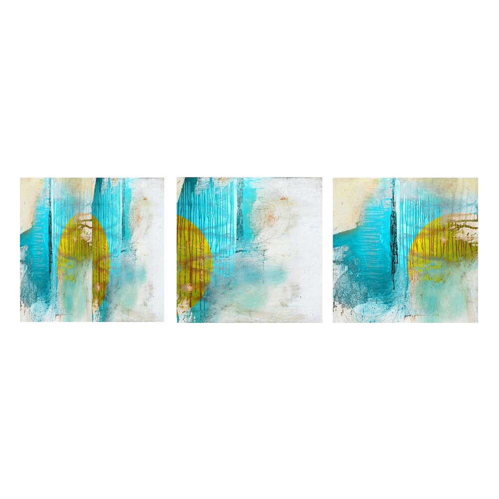 Ready2hangart Abstract 3 Piece Graphic Art on Canvas Set