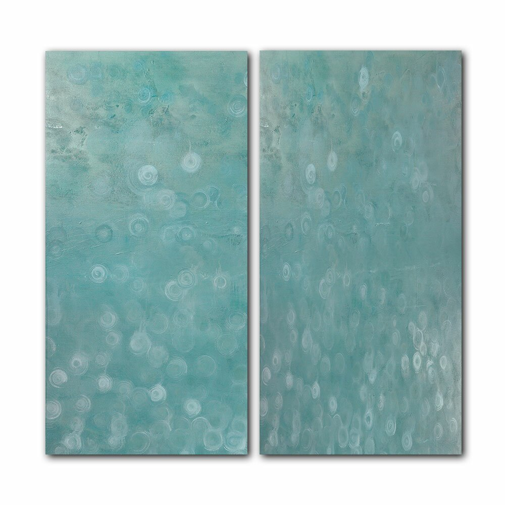 Ready2hangart oversized abstract 2 piece graphic art on for Spa wall decor