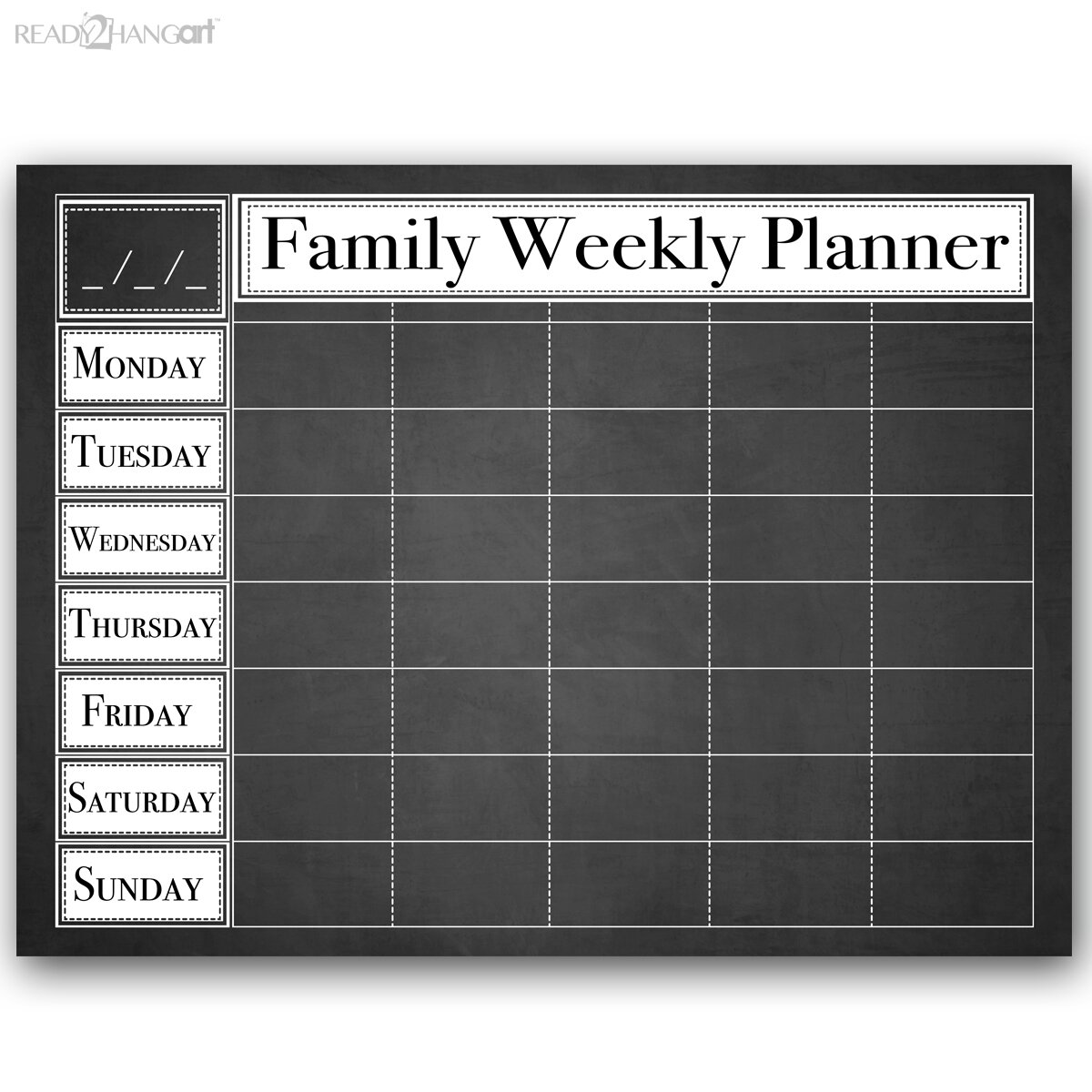 Weekly Calendar Board : Ready hangart dry erase family weekly calendar memo board