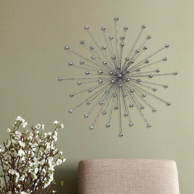 Silver Home Decor: Stratton Home Decor Silver Burst Wall Décor & Reviews