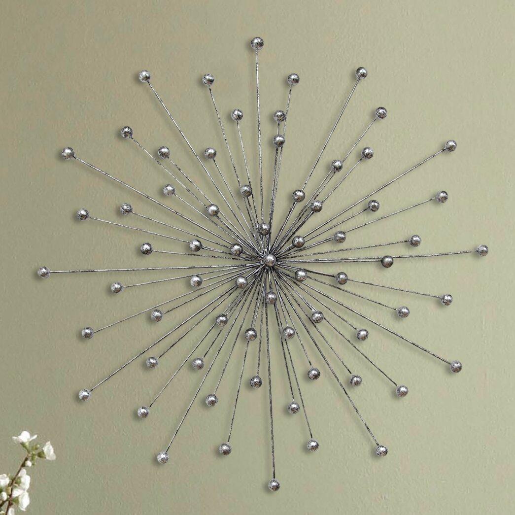 Stratton Home Decor Silver Burst Wall D Cor Reviews