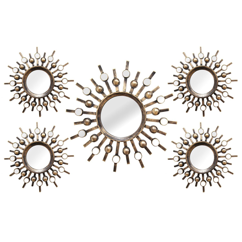 Stratton home decor burst 5 piece mirror set reviews - A m home decor set ...