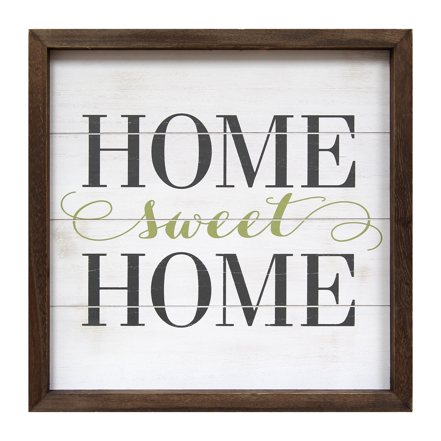 stratton home decor home sweet home framed textual art wayfair. Black Bedroom Furniture Sets. Home Design Ideas