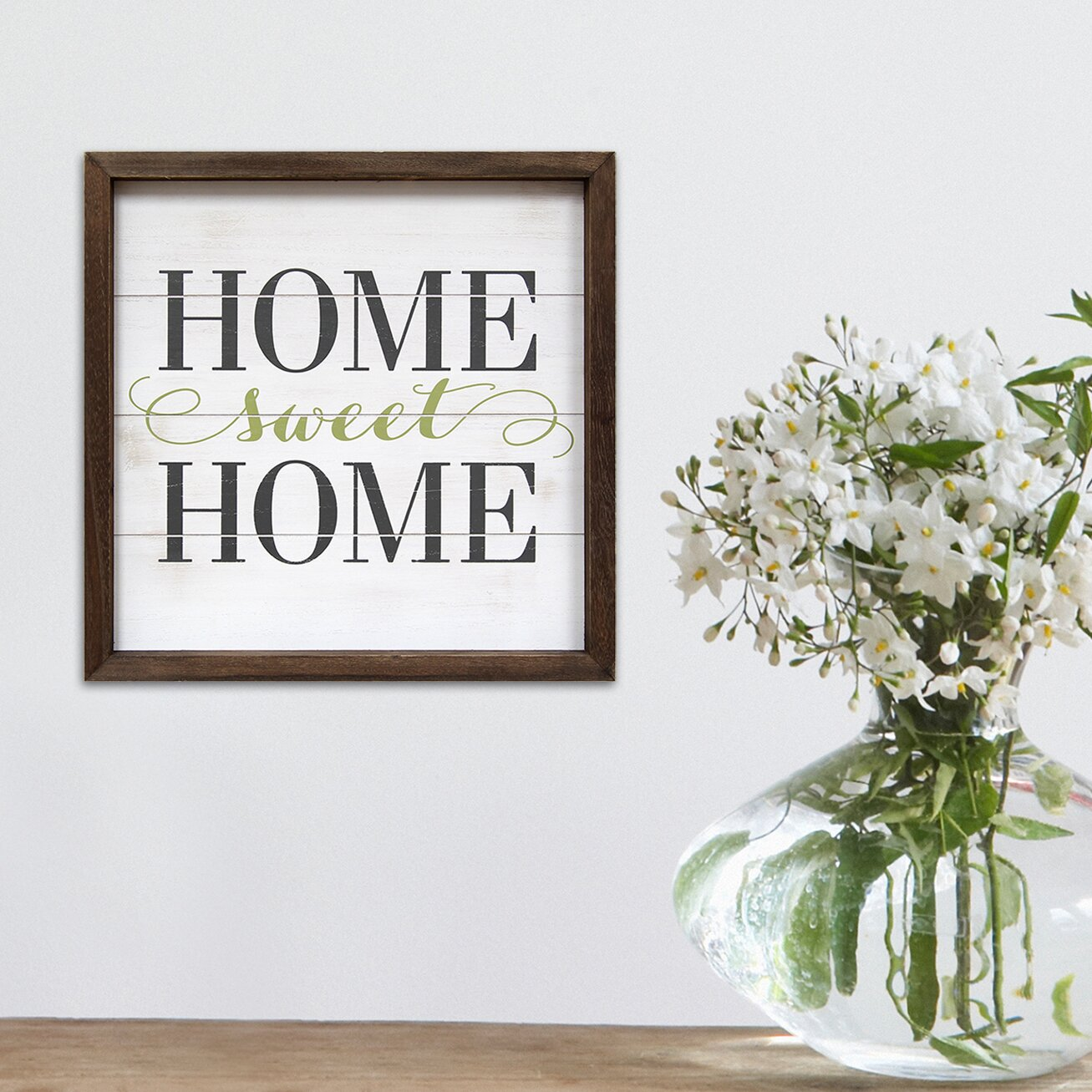Stratton home decor home sweet home framed textual art for Decorative home