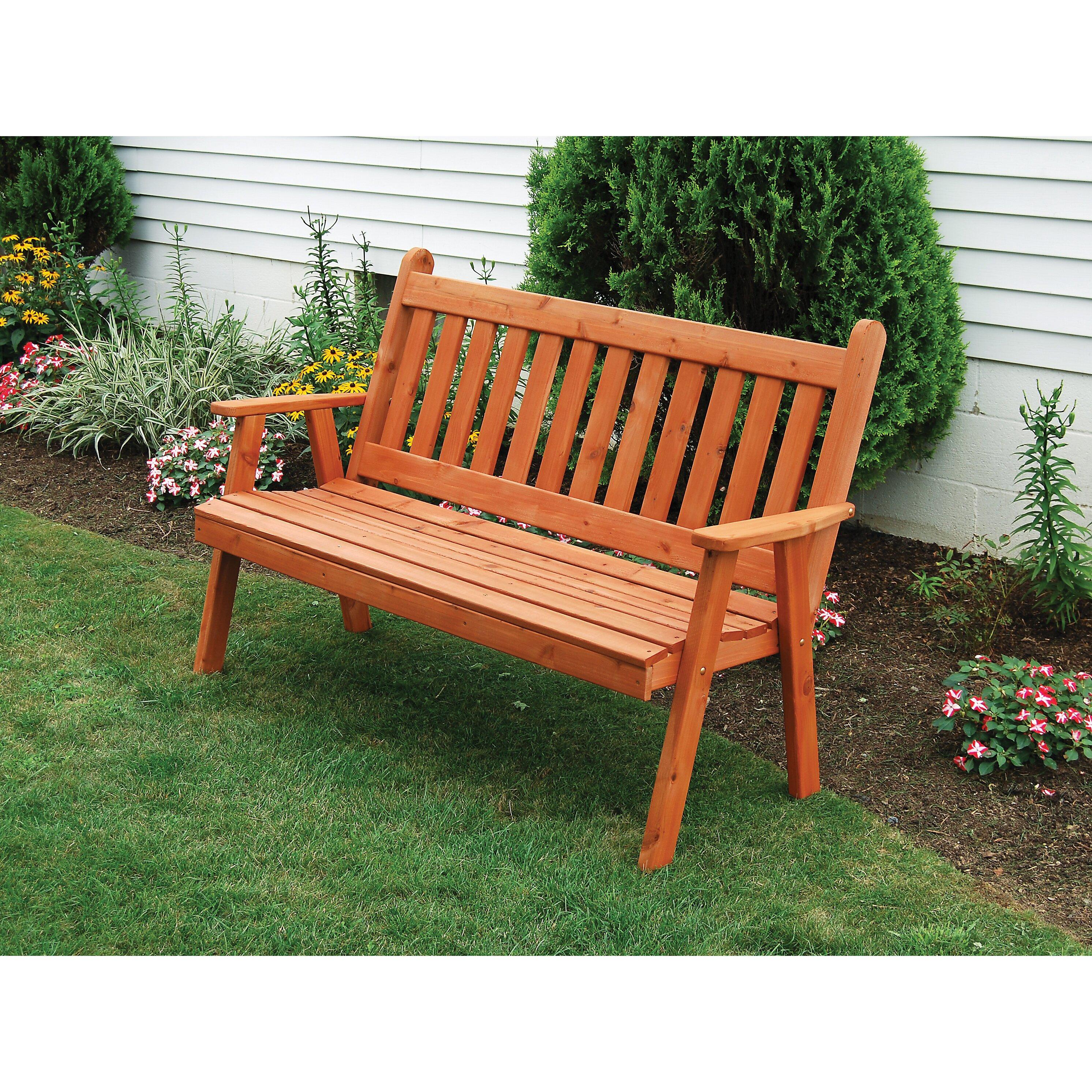 a l furniture royal english wood garden bench wayfair