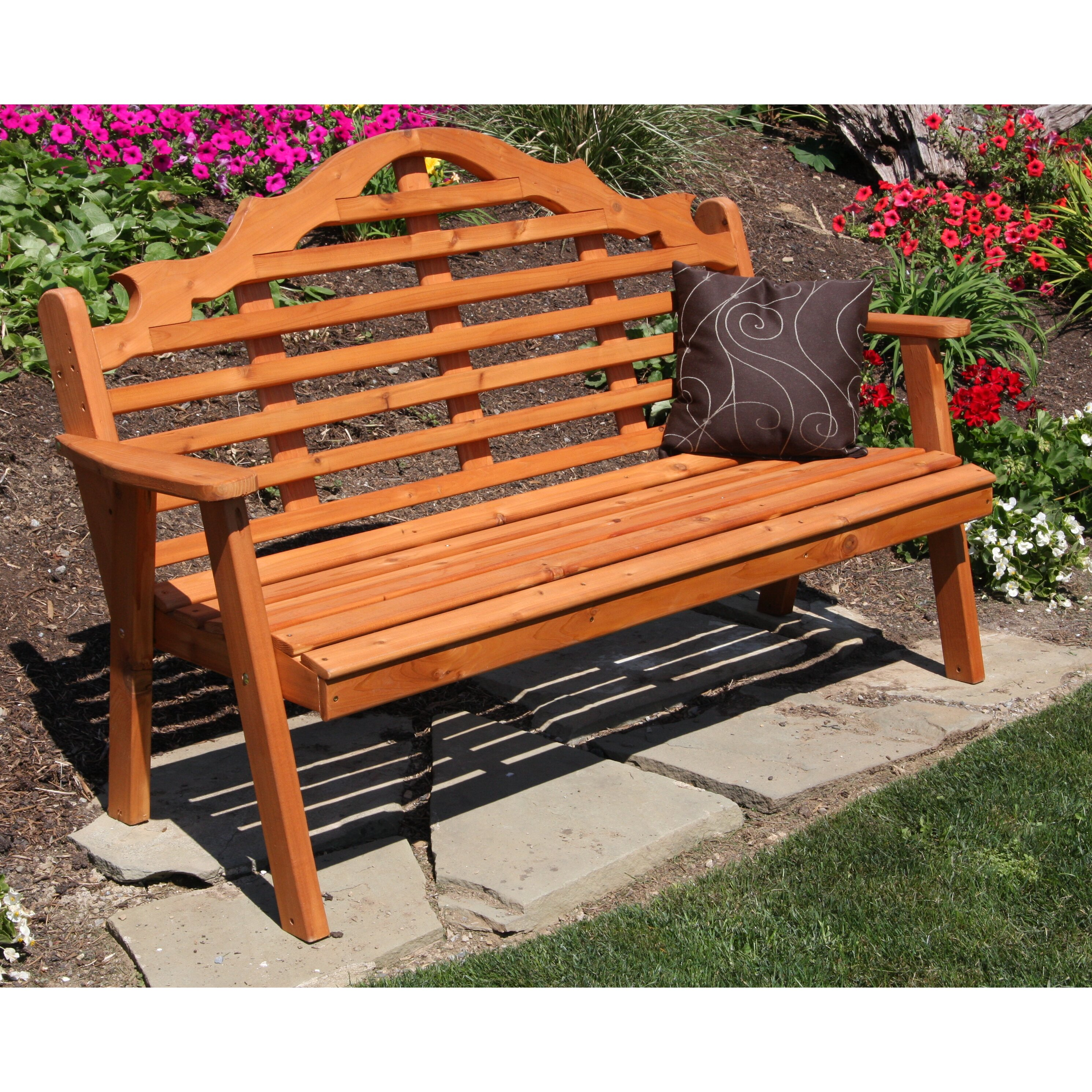 A&L Furniture Marlboro Wood Garden Bench | Wayfair.ca