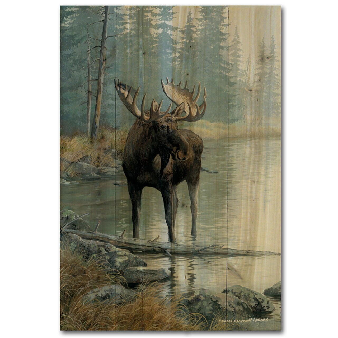 Moose Painting For Kids Room