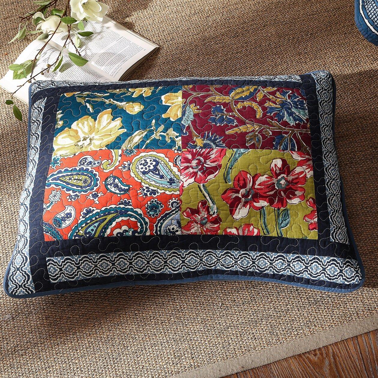 Dada Bedding Bohemian Floral Real Patchwork Quilt Set
