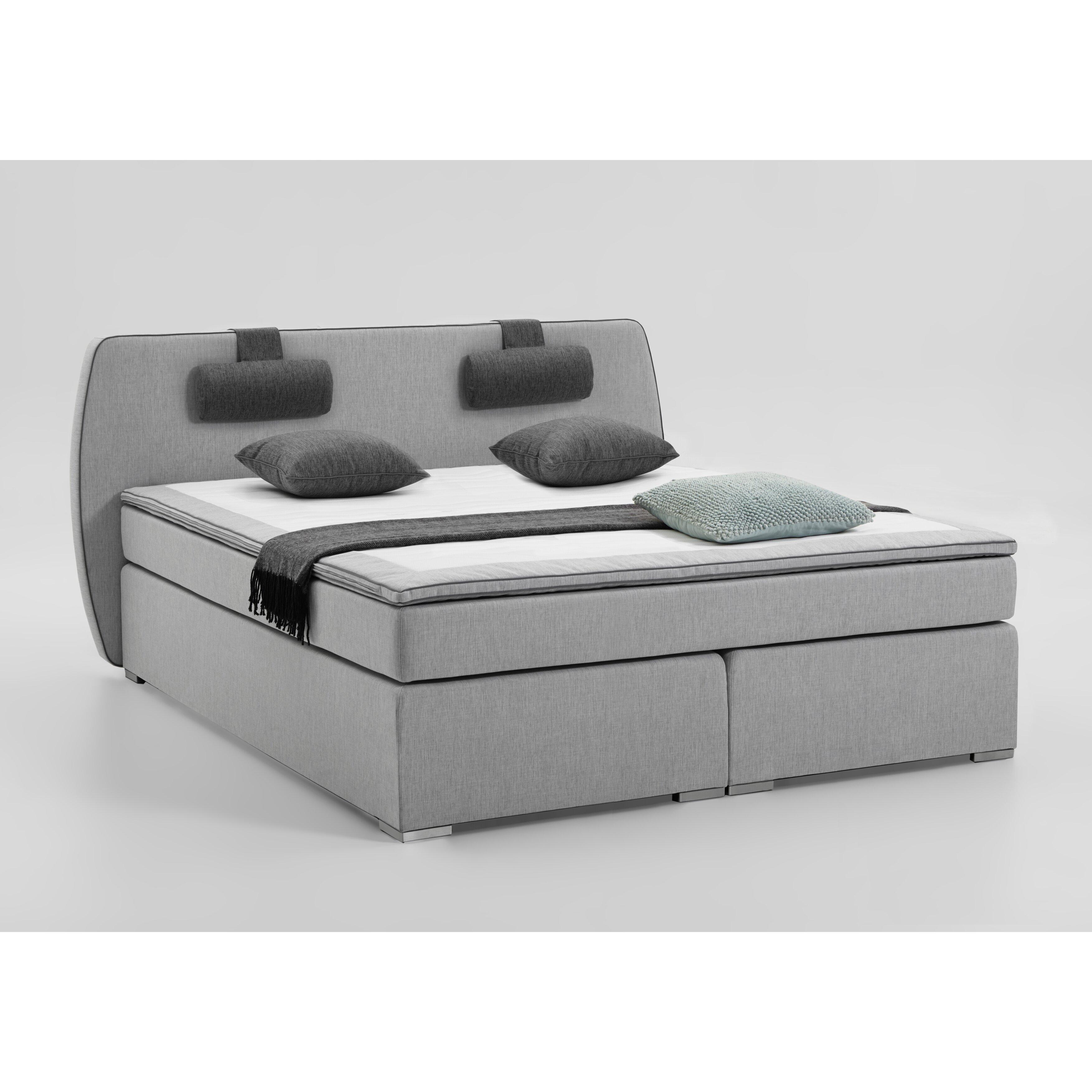 atlantic home collection boxspringbett rex mit topper und. Black Bedroom Furniture Sets. Home Design Ideas