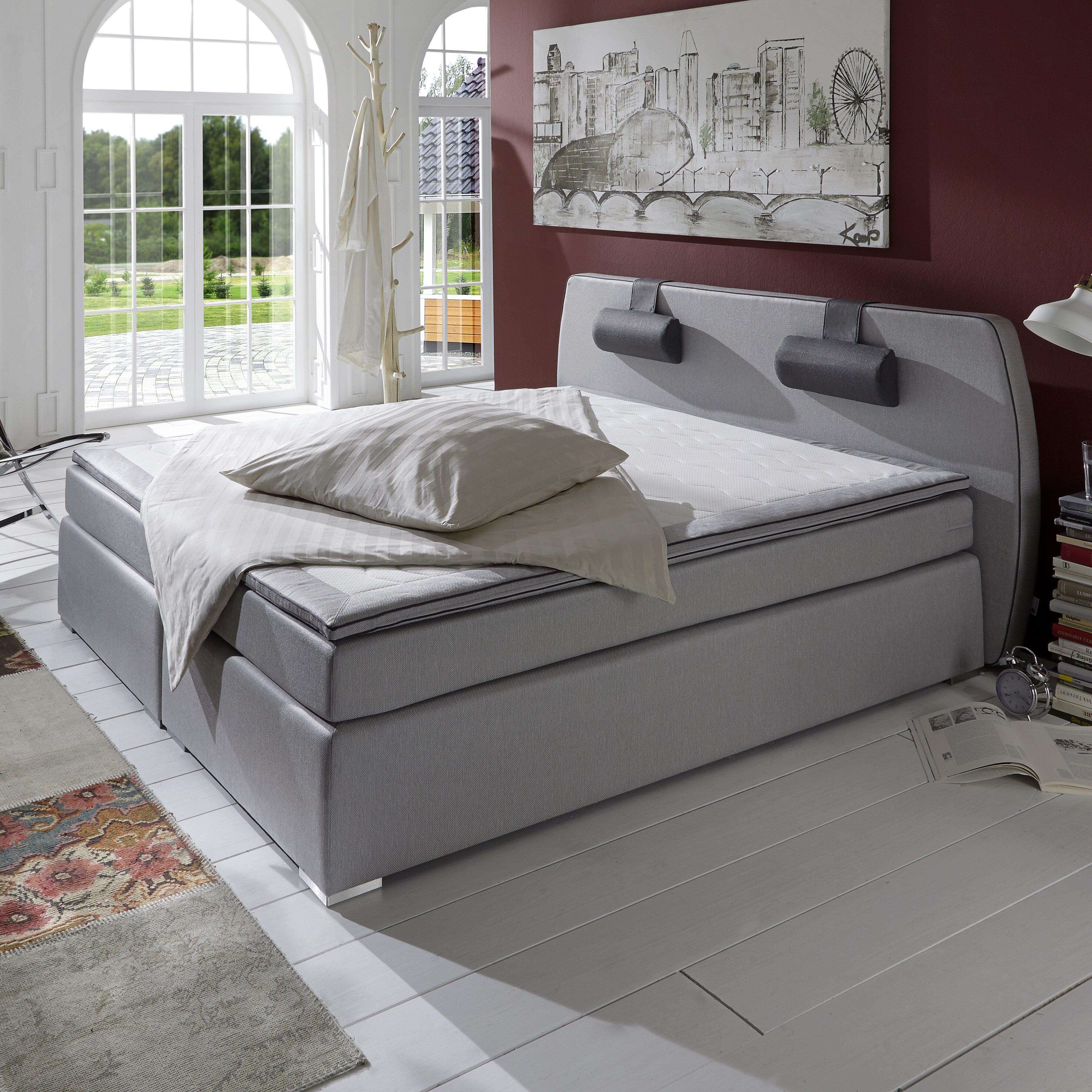 atlantic home collection boxspringbett rex mit topper und nackenkissen bewertungen. Black Bedroom Furniture Sets. Home Design Ideas