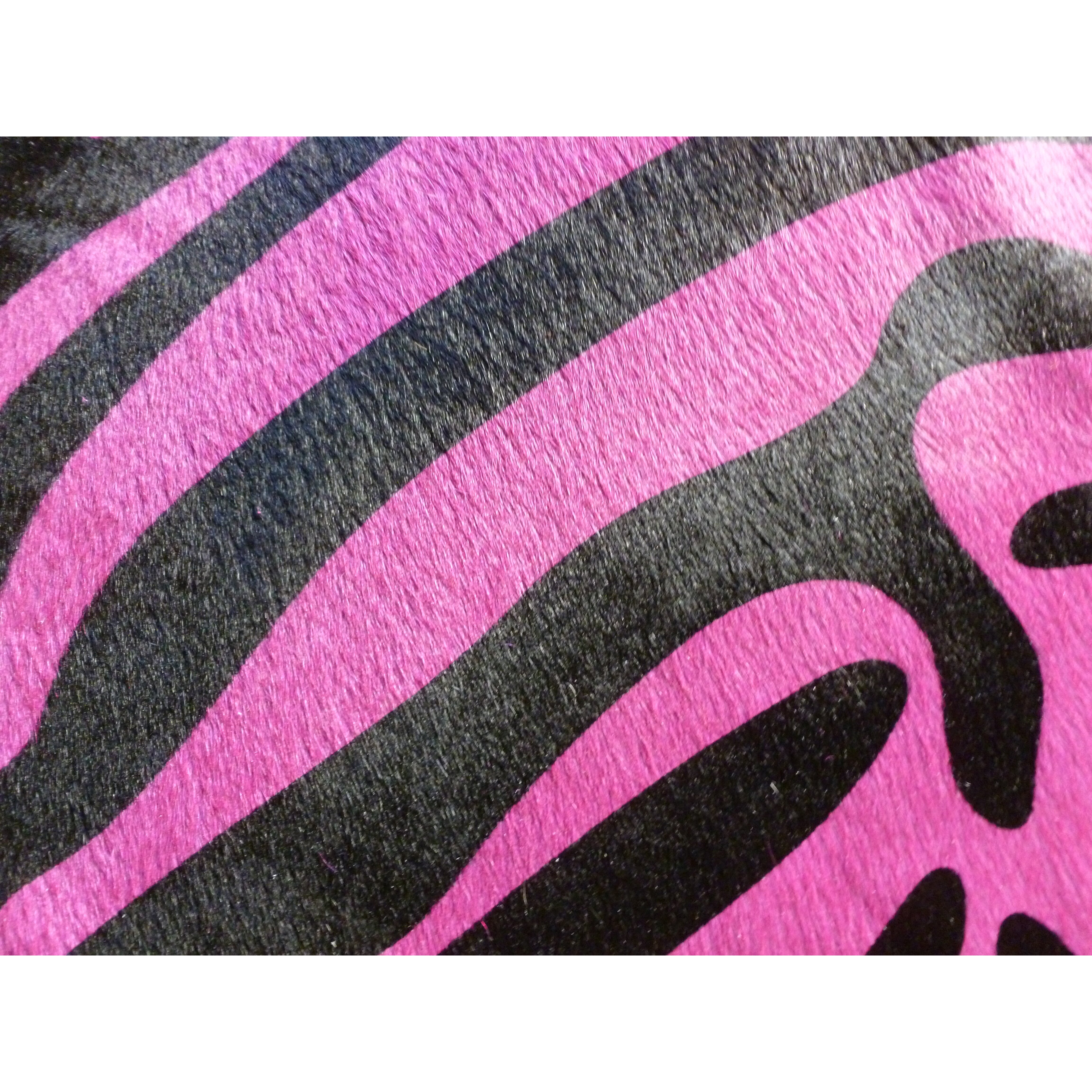 Chesterfield Leather Stenciled Brazilian Cowhide Pink