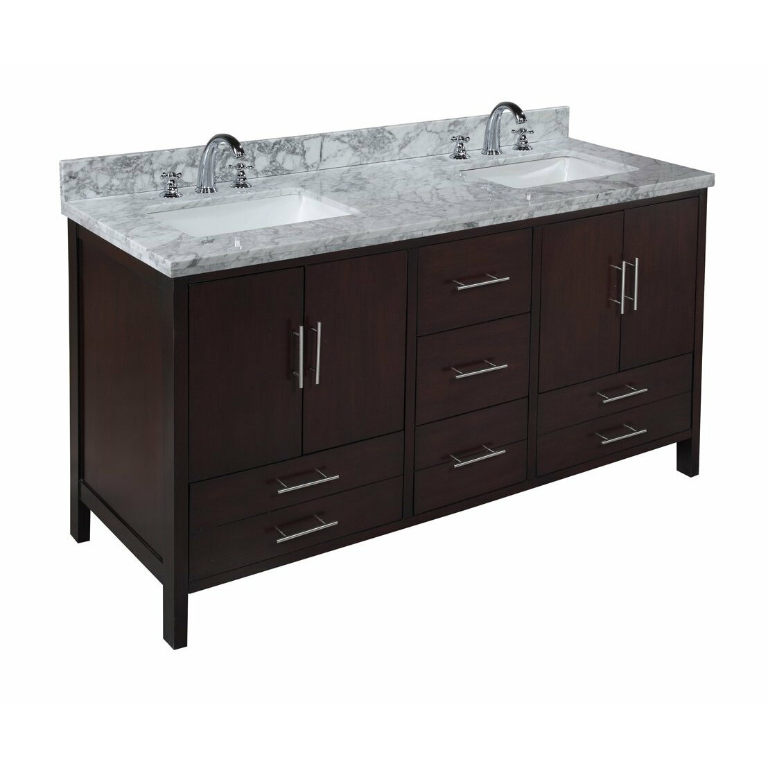 Kbc California 60 Double Bathroom Vanity Set Reviews