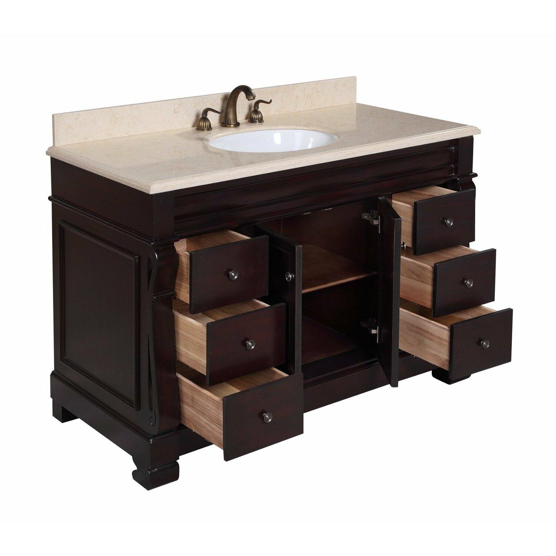kbc westminster 48 quot single bathroom vanity set reviews