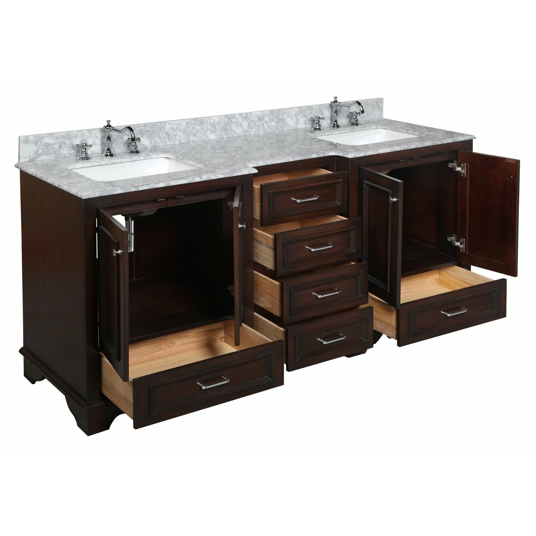 KBC Nantucket 72 Double Bathroom Vanity Set Reviews Wayfair