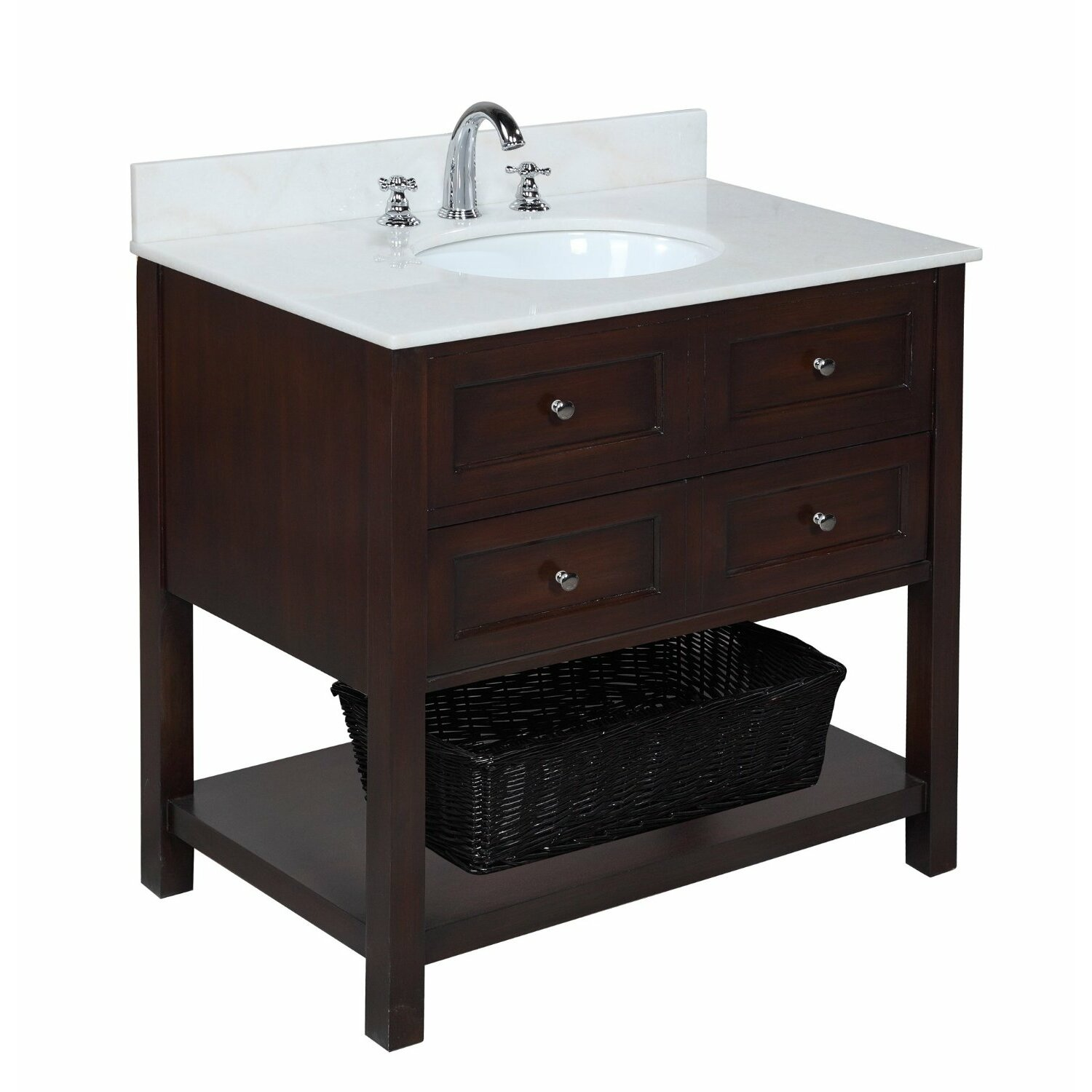Kbc new yorker 36 single bathroom vanity set reviews for Bath and vanity set