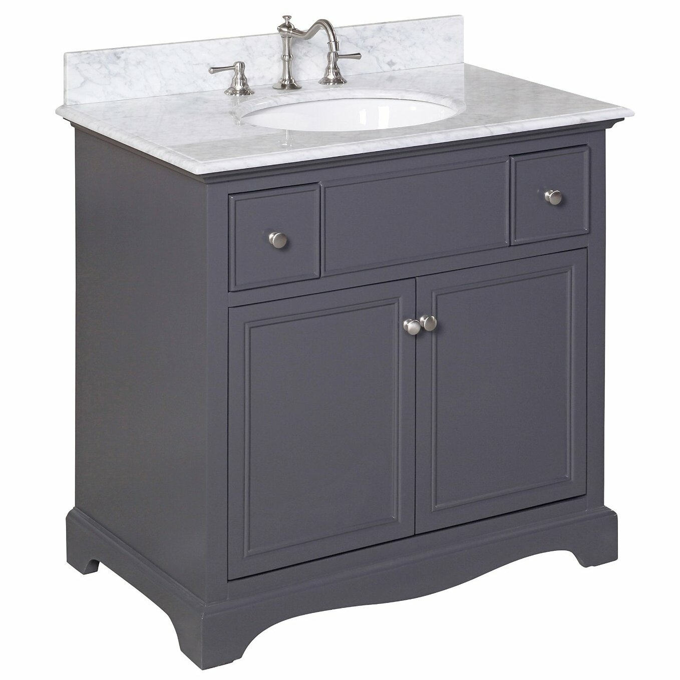 Kbc emily 36 single sink bathroom vanity set wayfair Bathroom sink and vanity sets