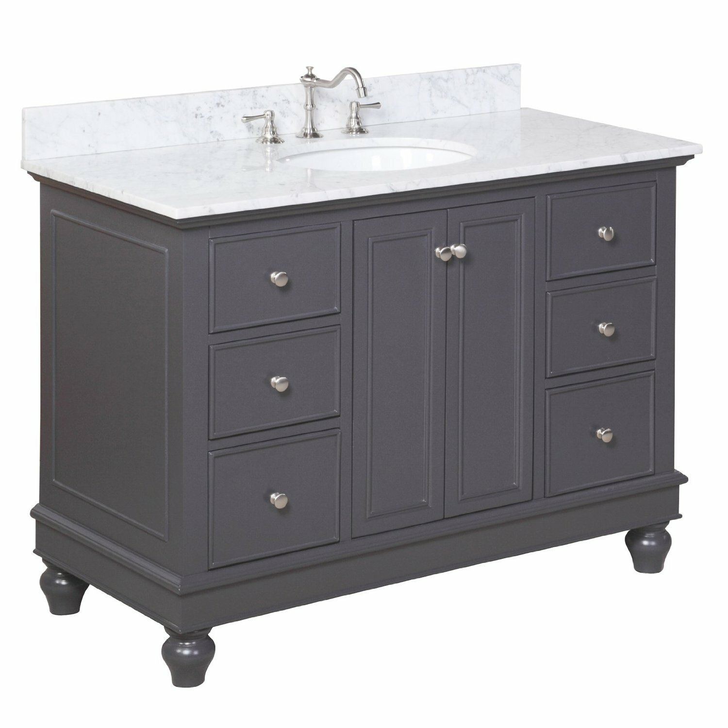 Kbc bella 48 single bathroom vanity set reviews wayfair for Bath and vanity set