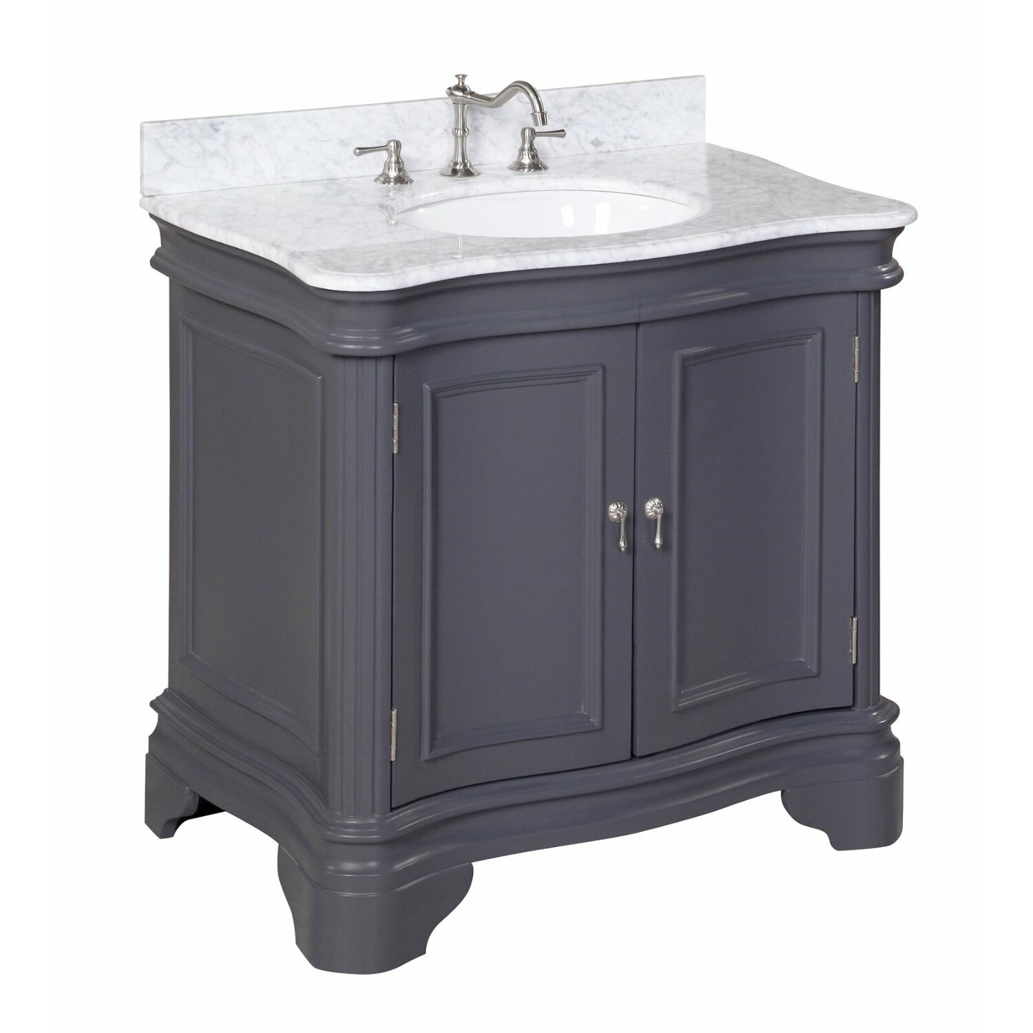 Kbc katherine 36 single bathroom vanity set reviews for Bath and vanity set