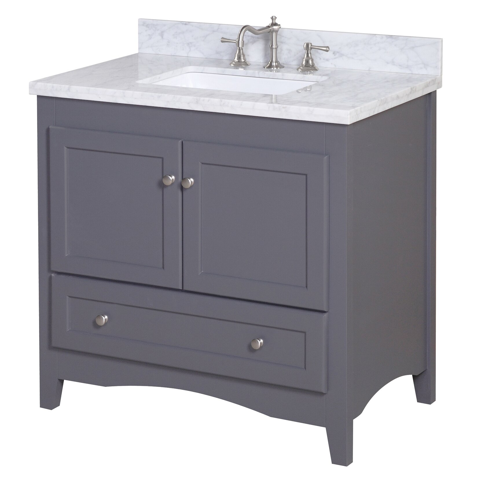 Kbc abbey 36 single bathroom vanity set reviews wayfair for Single bathroom vanity
