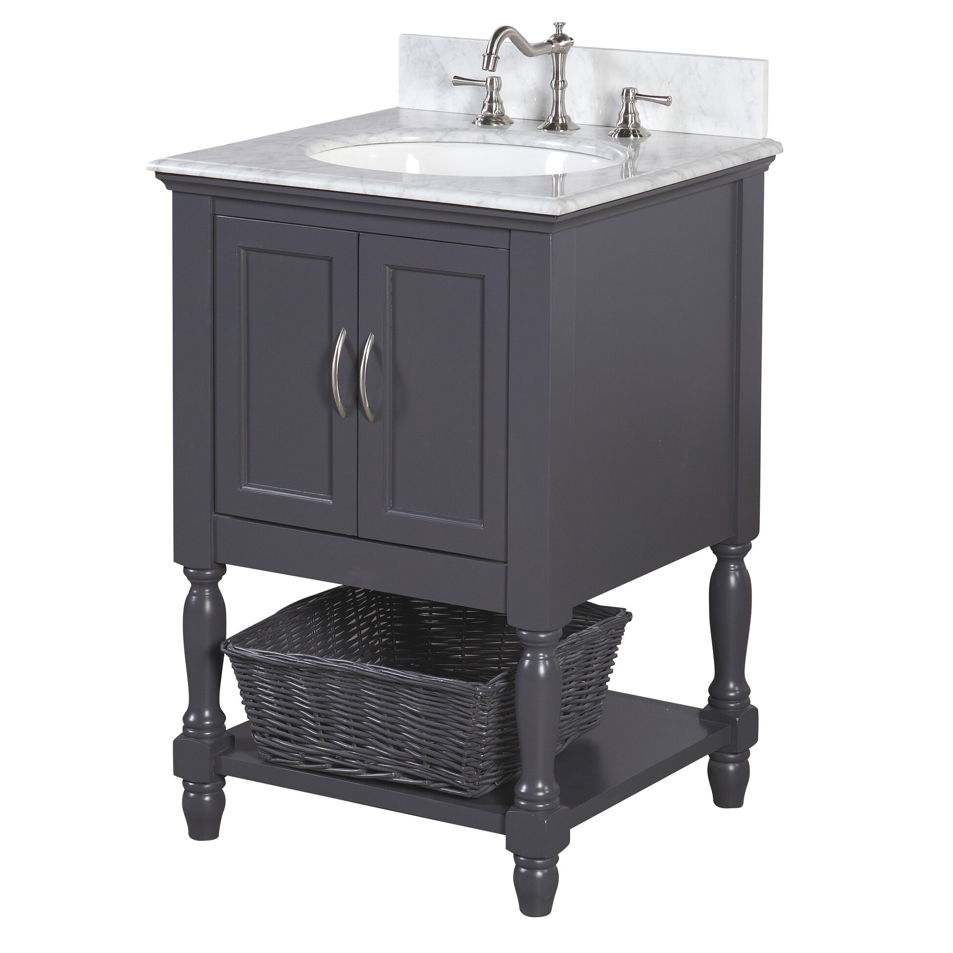 "KBC Beverly 24"" Single Bathroom Vanity Set & Reviews"