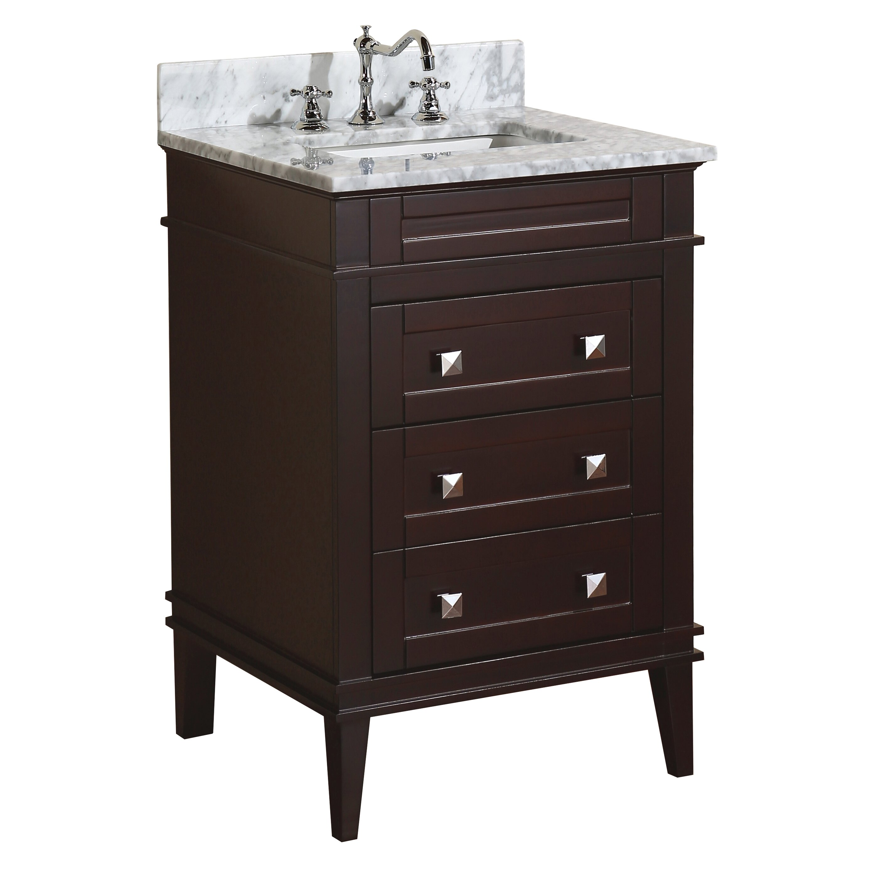 "KBC Eleanor 24"" Single Bathroom Vanity Set & Reviews"