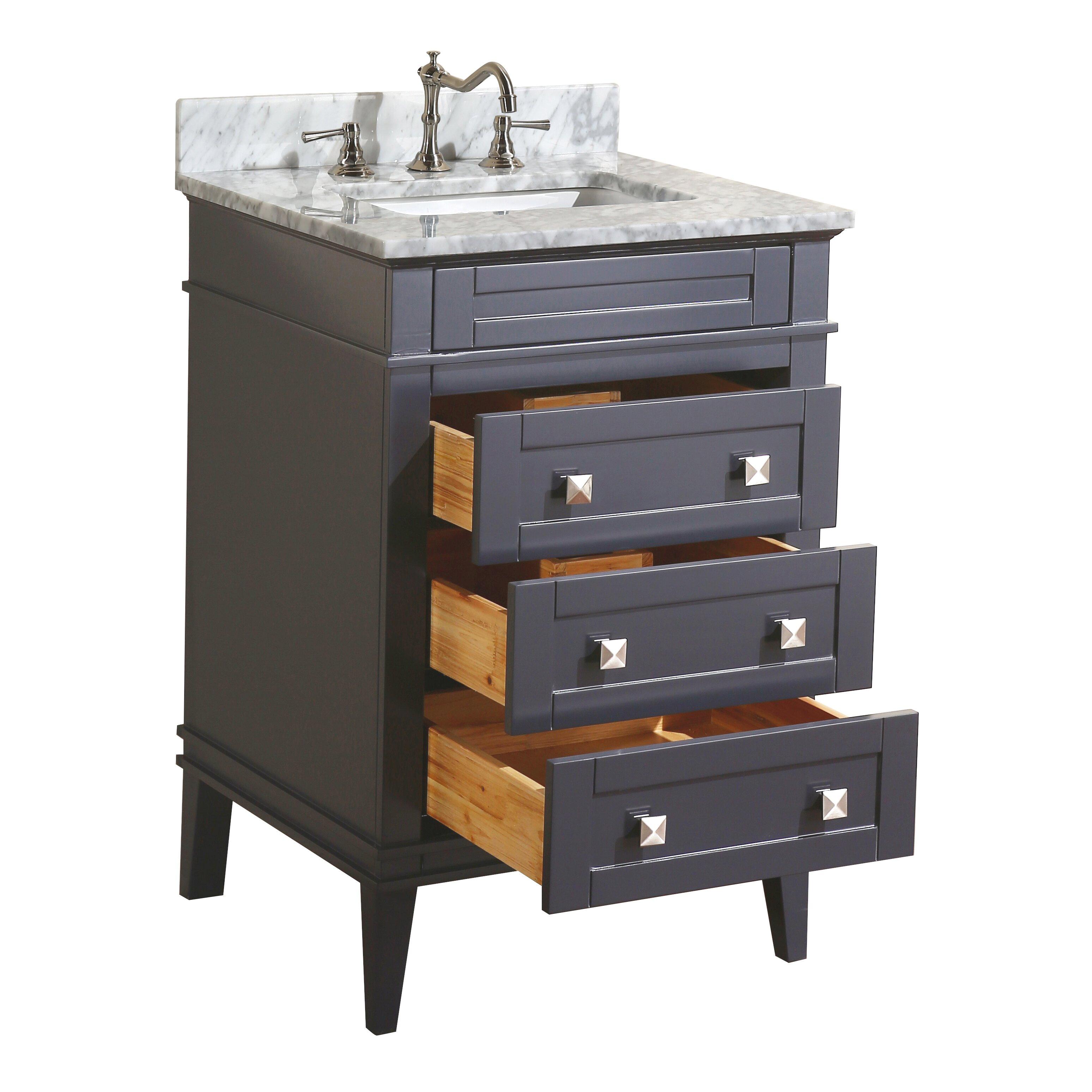"KBC Eleanor 24"" Single Bathroom Vanity Set & Reviews 