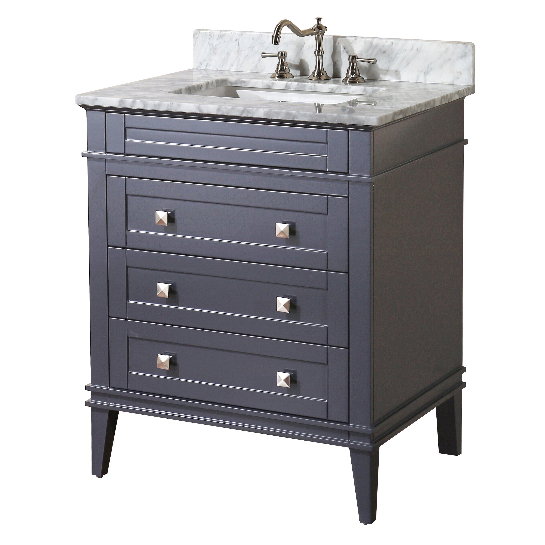 Kbc eleanor 30 single bathroom vanity set reviews wayfair for Bathroom vanity sets for sale