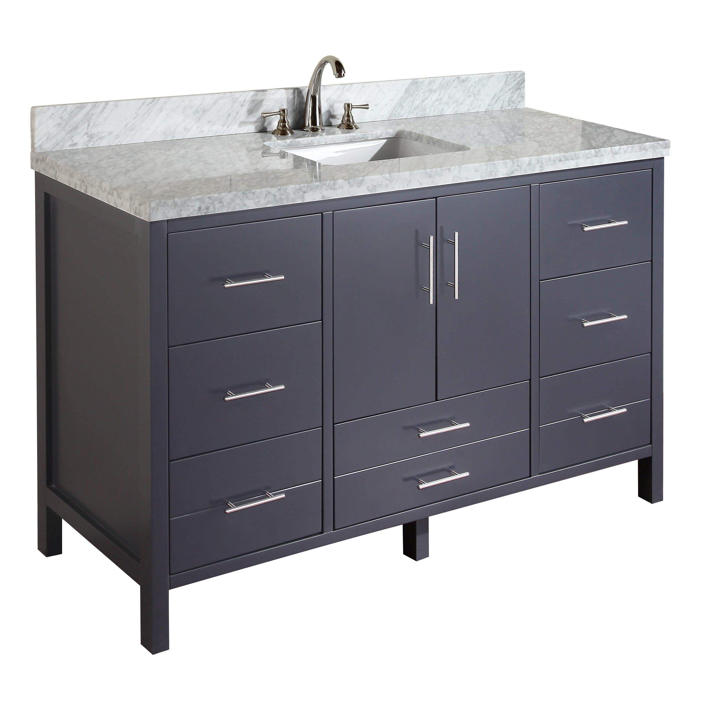 Kbc California 60 Quot Single Bathroom Vanity Set Amp Reviews