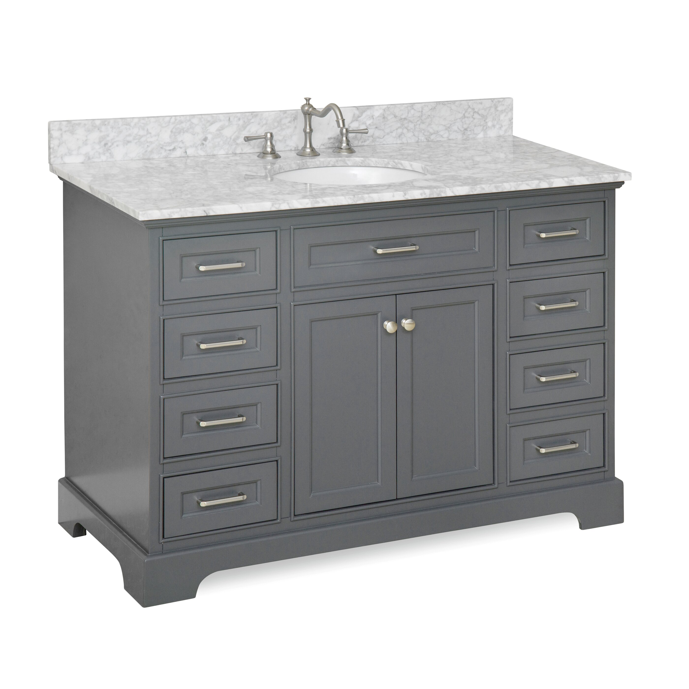 kbc aria 48 single vanity set reviews wayfair. Black Bedroom Furniture Sets. Home Design Ideas