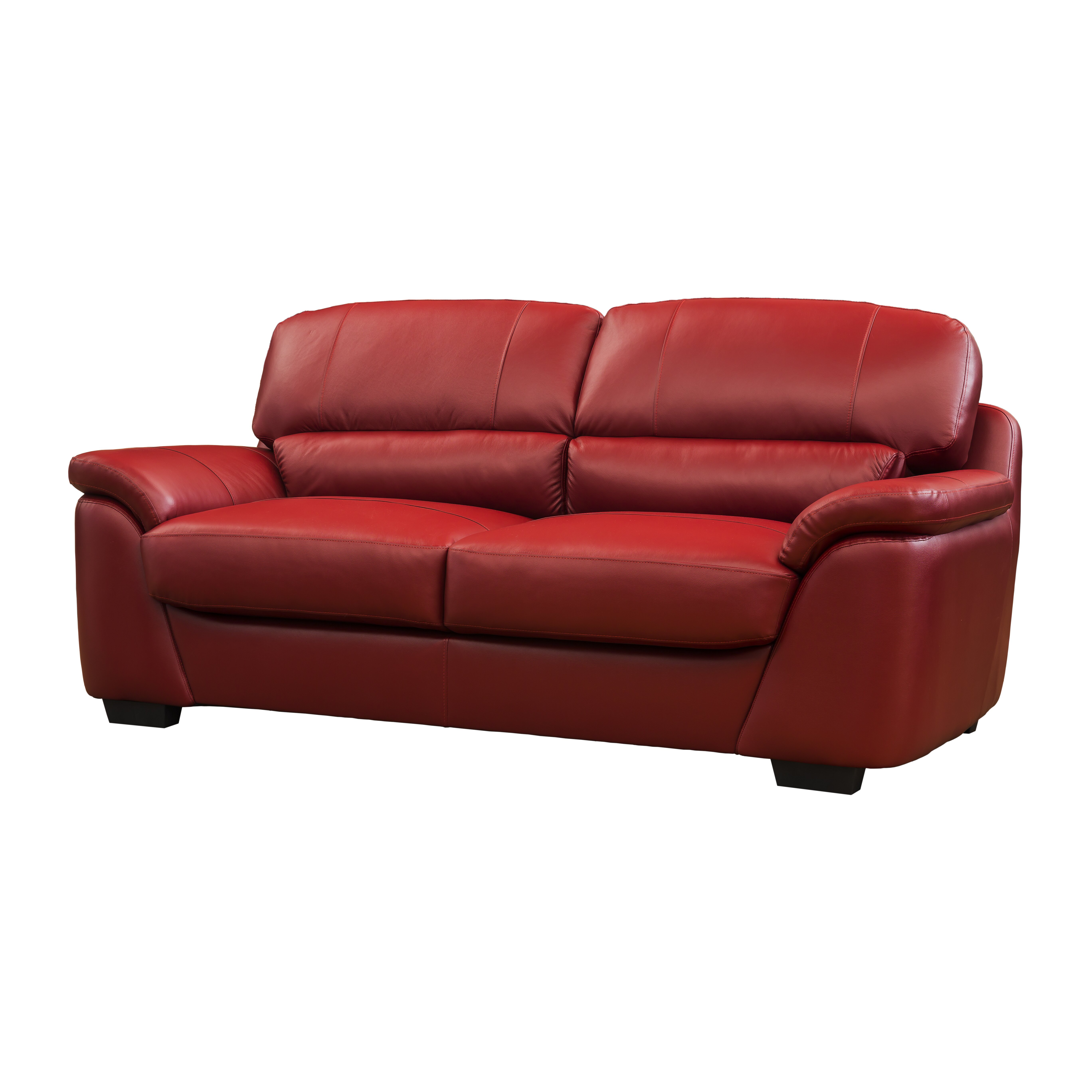 rose bay furniture bugatti leather 3 seater sofa wayfair uk. Black Bedroom Furniture Sets. Home Design Ideas