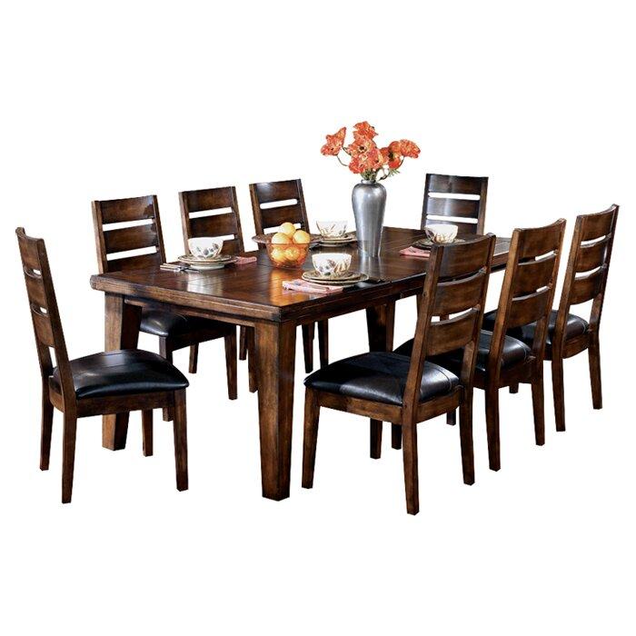 Red barrel studio kibbe extendable dining table reviews for Extendable dining table