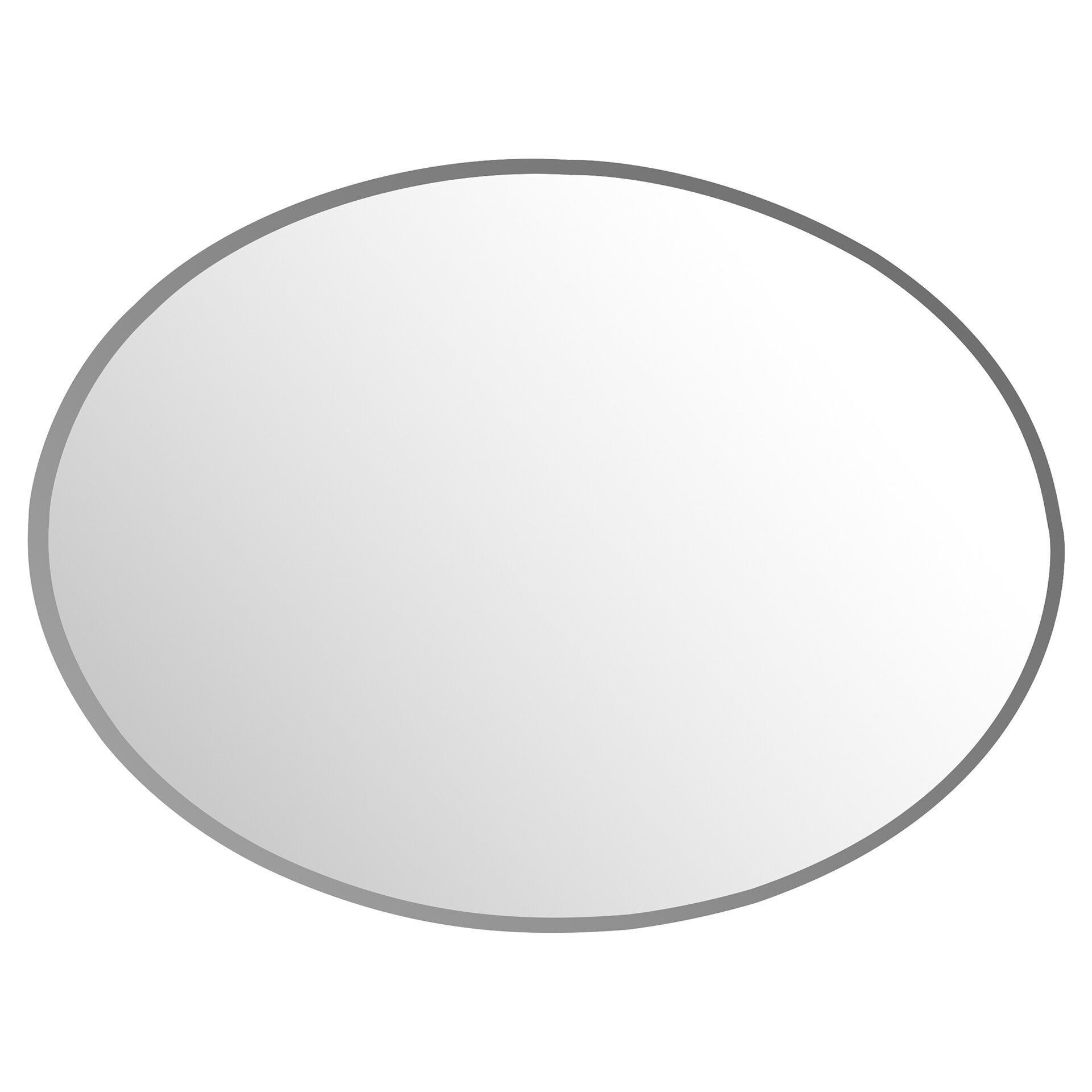 Frameless Magnifying Glasses : Red Barrel Studio Frameless Oval Wall Mirror & Reviews ...