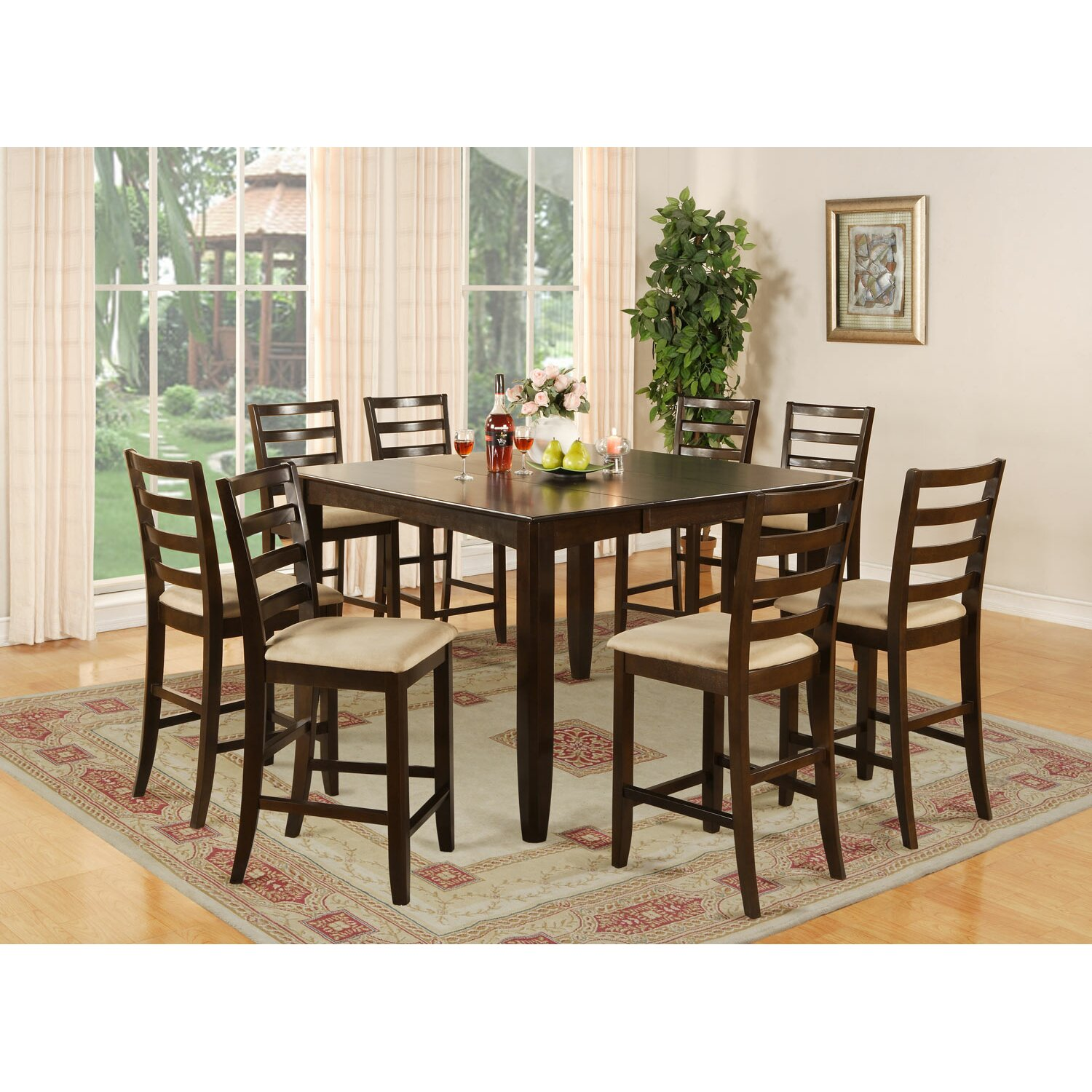 Red barrel studio tamarack 9 piece counter height dining for 9 piece dining room set counter height