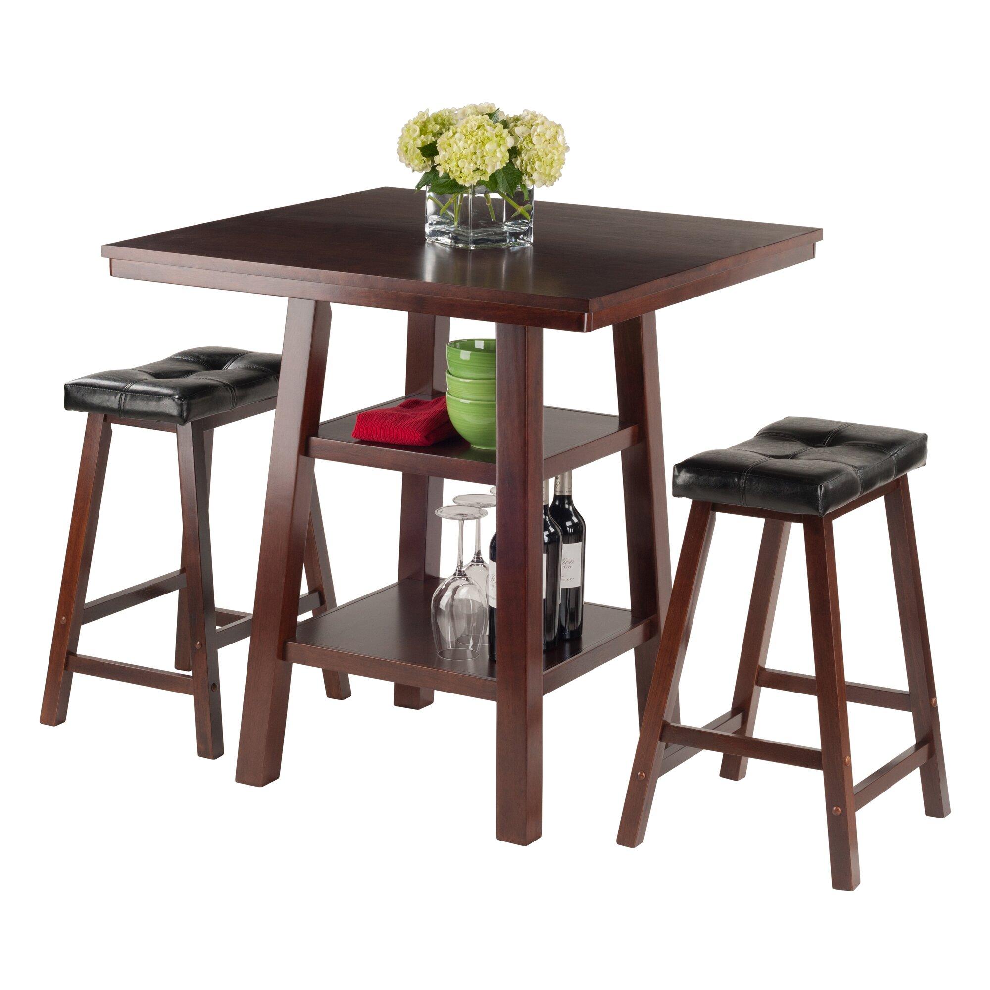 Red barrel studio pratt street 3 piece dining set wayfair for Dining room 3 piece set