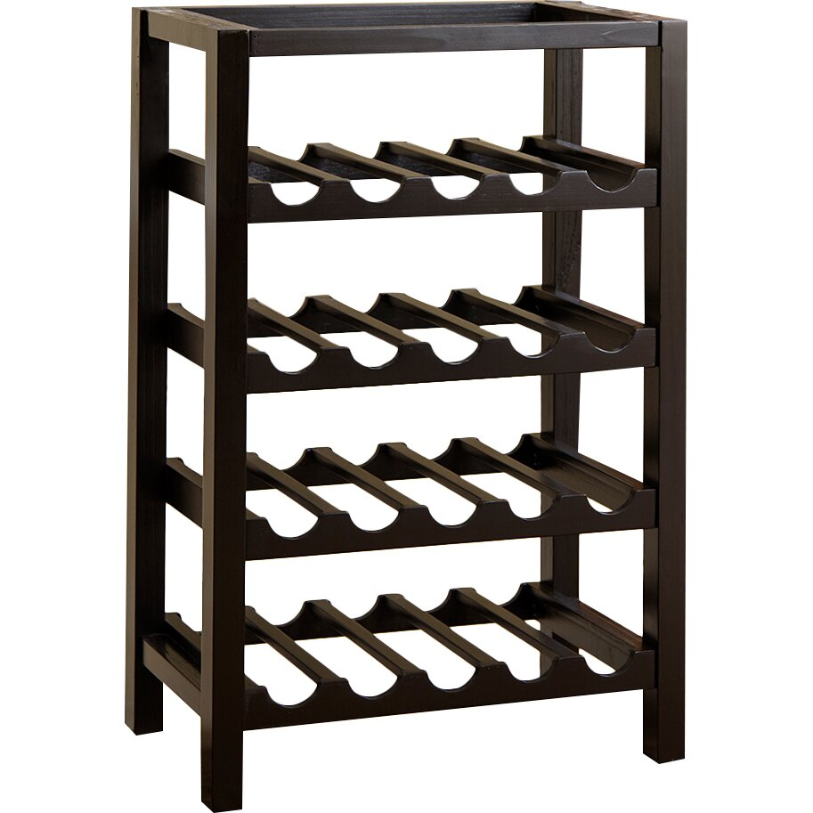 Red barrel studio eberhart 20 bottle floor wine rack wayfair for Floor wine rack