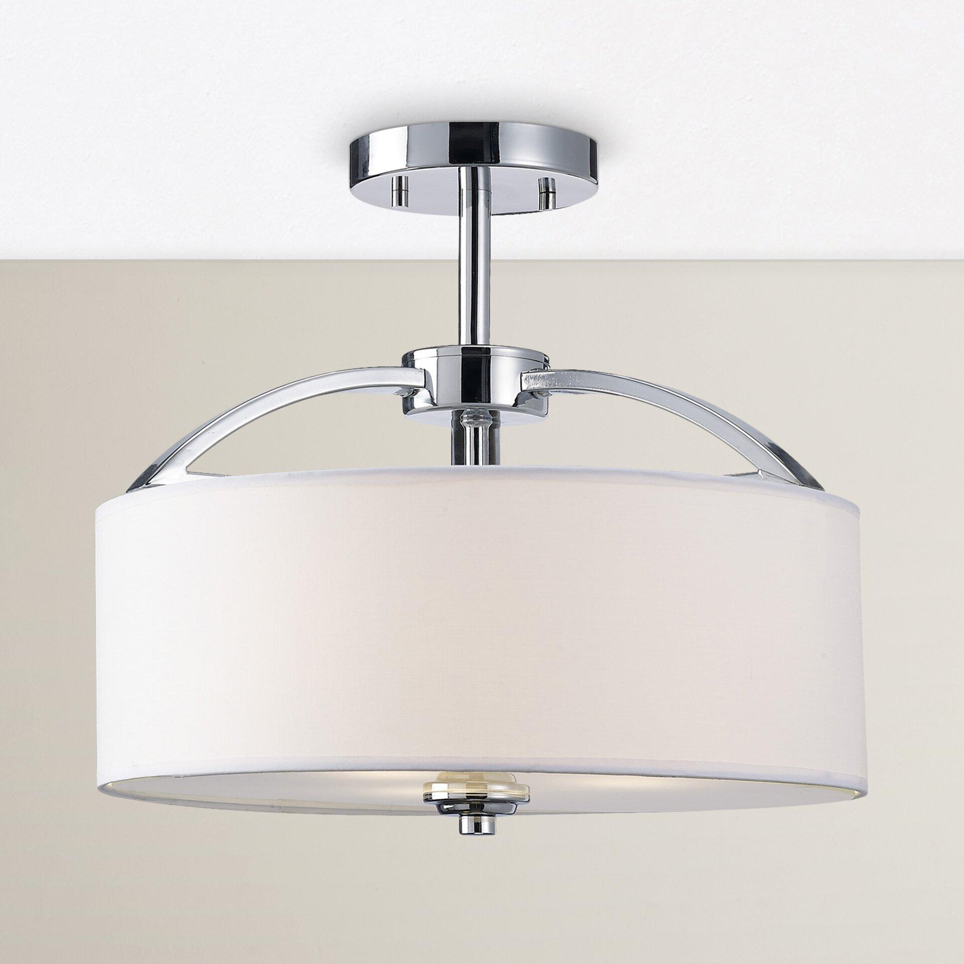 Flush Mount Kitchen Lighting: Red Barrel Studio Epsom 3 Light Semi Flush Mount & Reviews